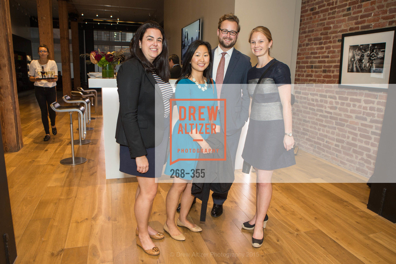 Alexandra Hoch, Anna Smith, Andrew Lick, Charlie Adamski, SFMOMA Contemporary Vision Award Launch Party, Leica. 463 Bush St, October 8th, 2015,Drew Altizer, Drew Altizer Photography, full-service agency, private events, San Francisco photographer, photographer california