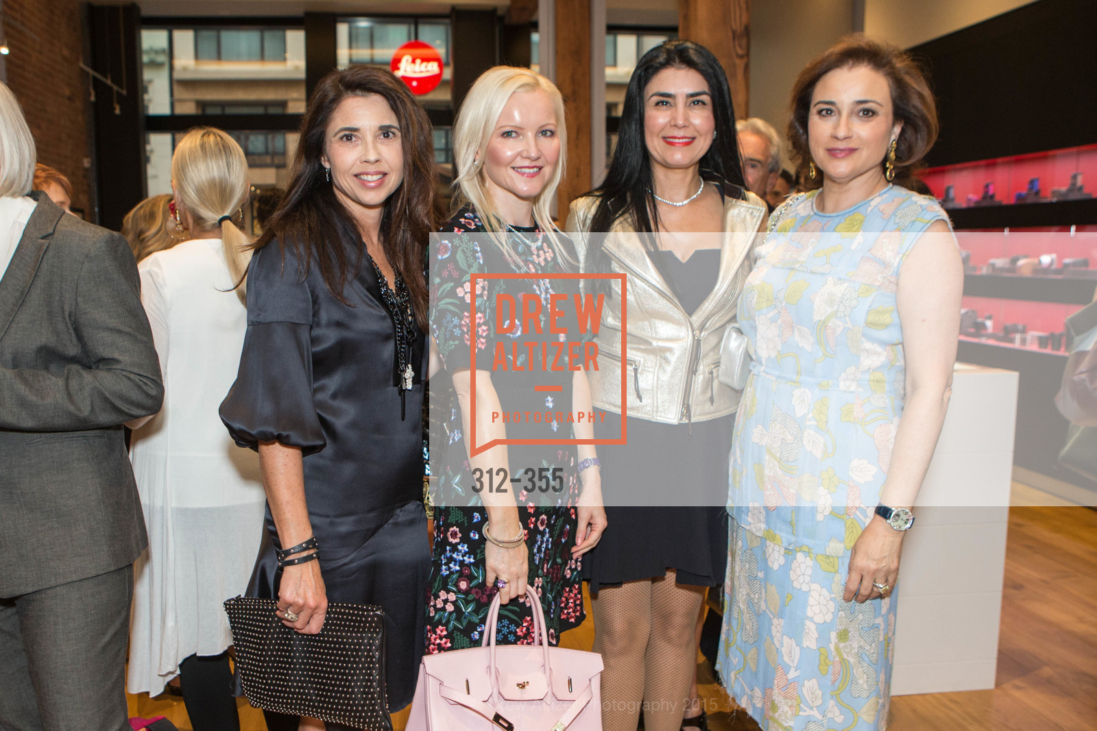 Candace Cavanaugh, Nathalie Delrue-McGuire, Afsaneh Akhtari, Dolly Chammas, SFMOMA Contemporary Vision Award Launch Party, Leica. 463 Bush St, October 8th, 2015,Drew Altizer, Drew Altizer Photography, full-service agency, private events, San Francisco photographer, photographer california