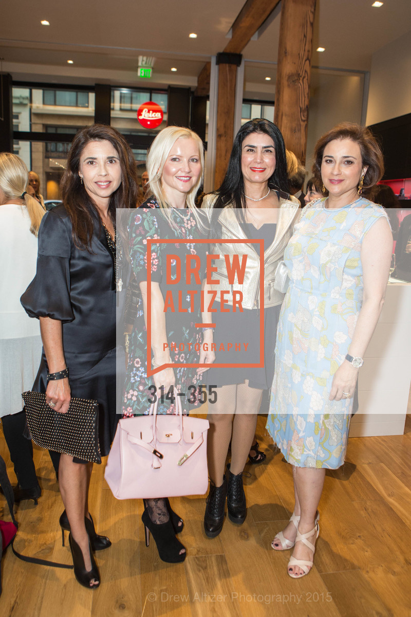 Candace Cavanaugh, Nathalie Delrue-McGuire, Afsaneh Akhtari, Dolly Chammas, SFMOMA Contemporary Vision Award Launch Party, Leica. 463 Bush St, October 8th, 2015,Drew Altizer, Drew Altizer Photography, full-service event agency, private events, San Francisco photographer, photographer California