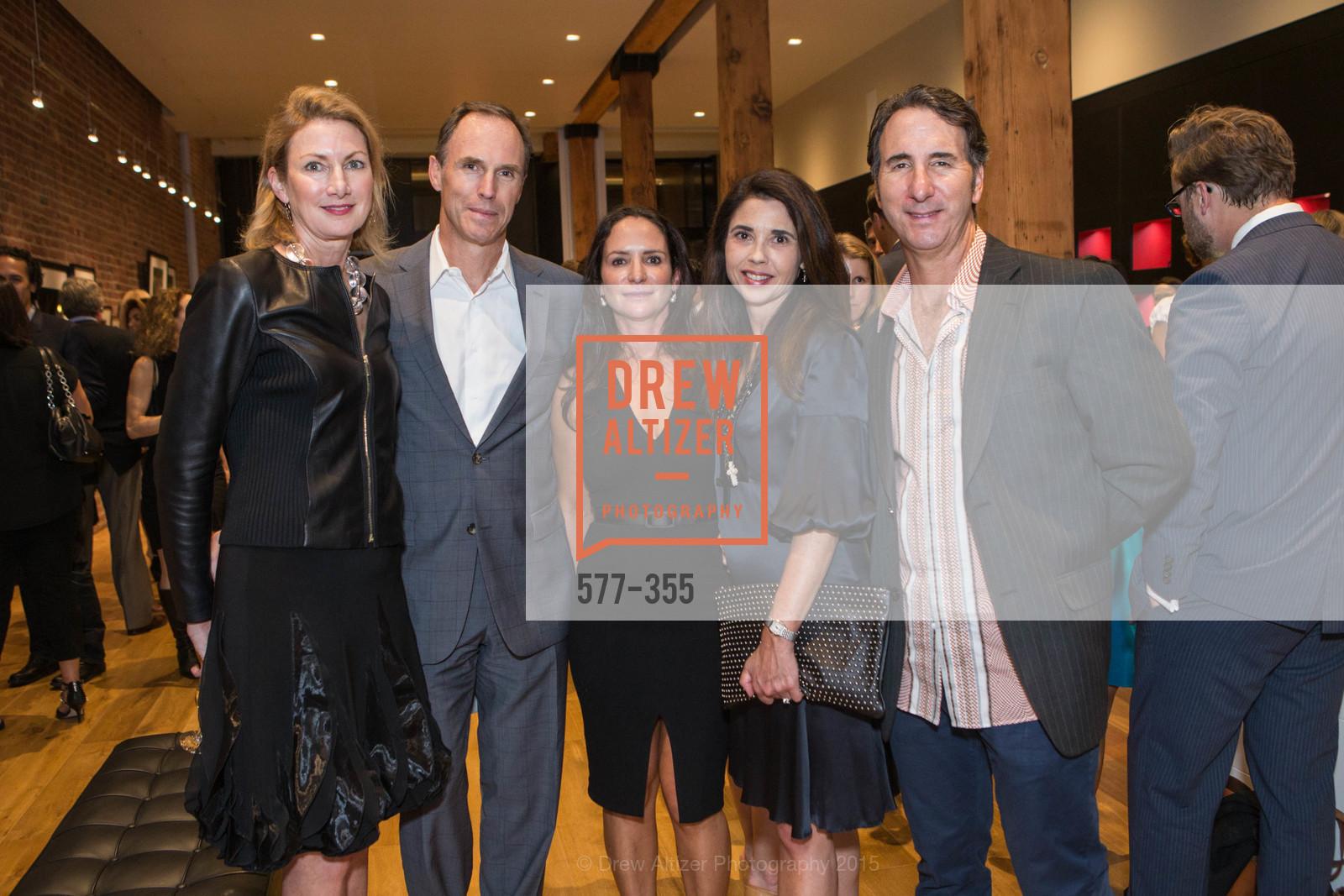Courtney Dallaire, Candace Cavanaugh, Mario Rodighiero, SFMOMA Contemporary Vision Award Launch Party, Leica. 463 Bush St, October 8th, 2015
