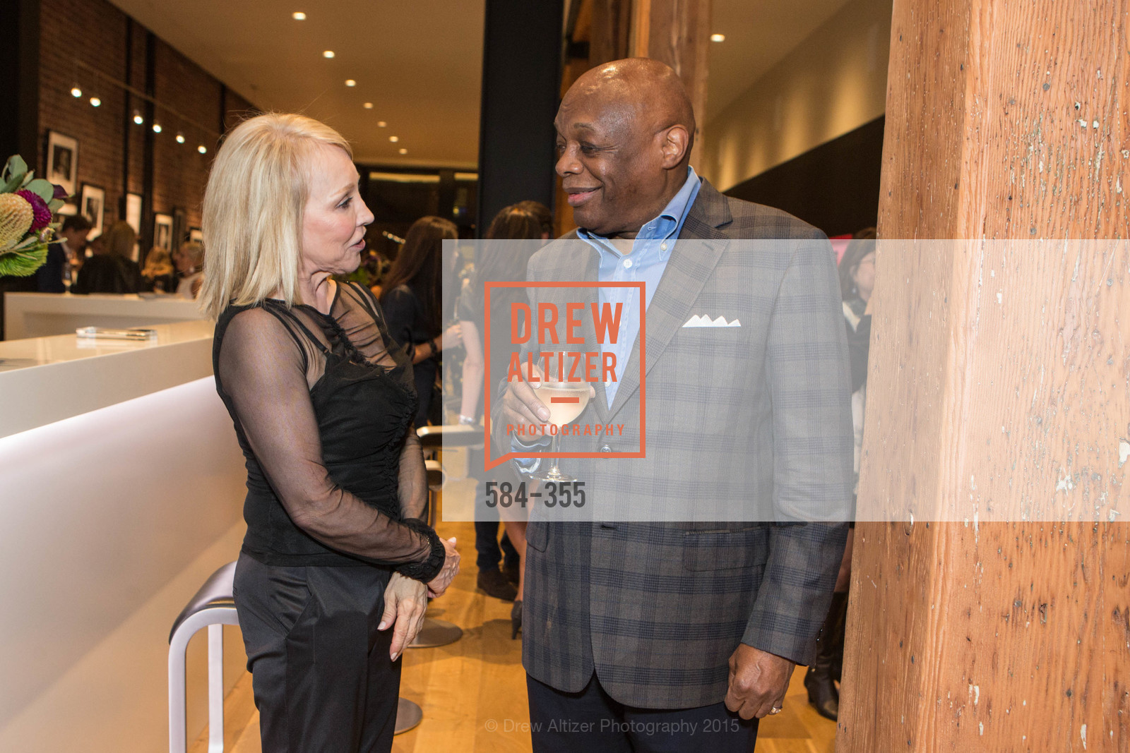 Diana Cranor, Willie Brown, SFMOMA Contemporary Vision Award Launch Party, Leica. 463 Bush St, October 8th, 2015,Drew Altizer, Drew Altizer Photography, full-service agency, private events, San Francisco photographer, photographer california