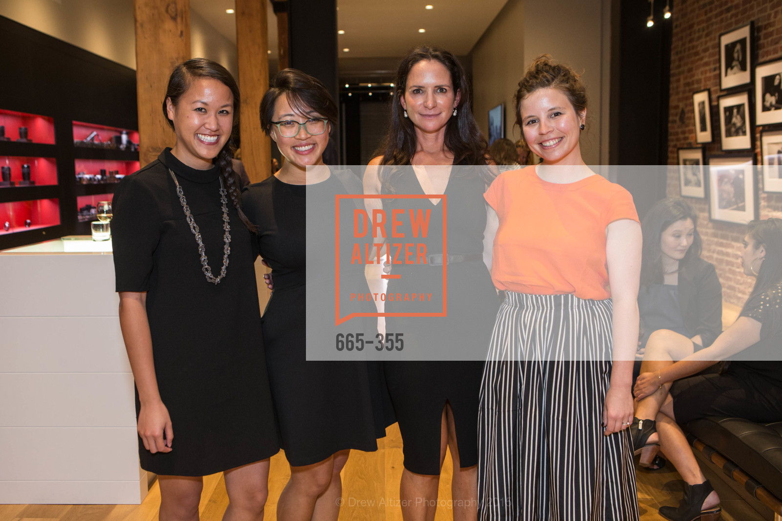 Jessica Dang, Victoria Chao, Courtney Dallaire, Jenong Ideros, SFMOMA Contemporary Vision Award Launch Party, Leica. 463 Bush St, October 8th, 2015,Drew Altizer, Drew Altizer Photography, full-service agency, private events, San Francisco photographer, photographer california