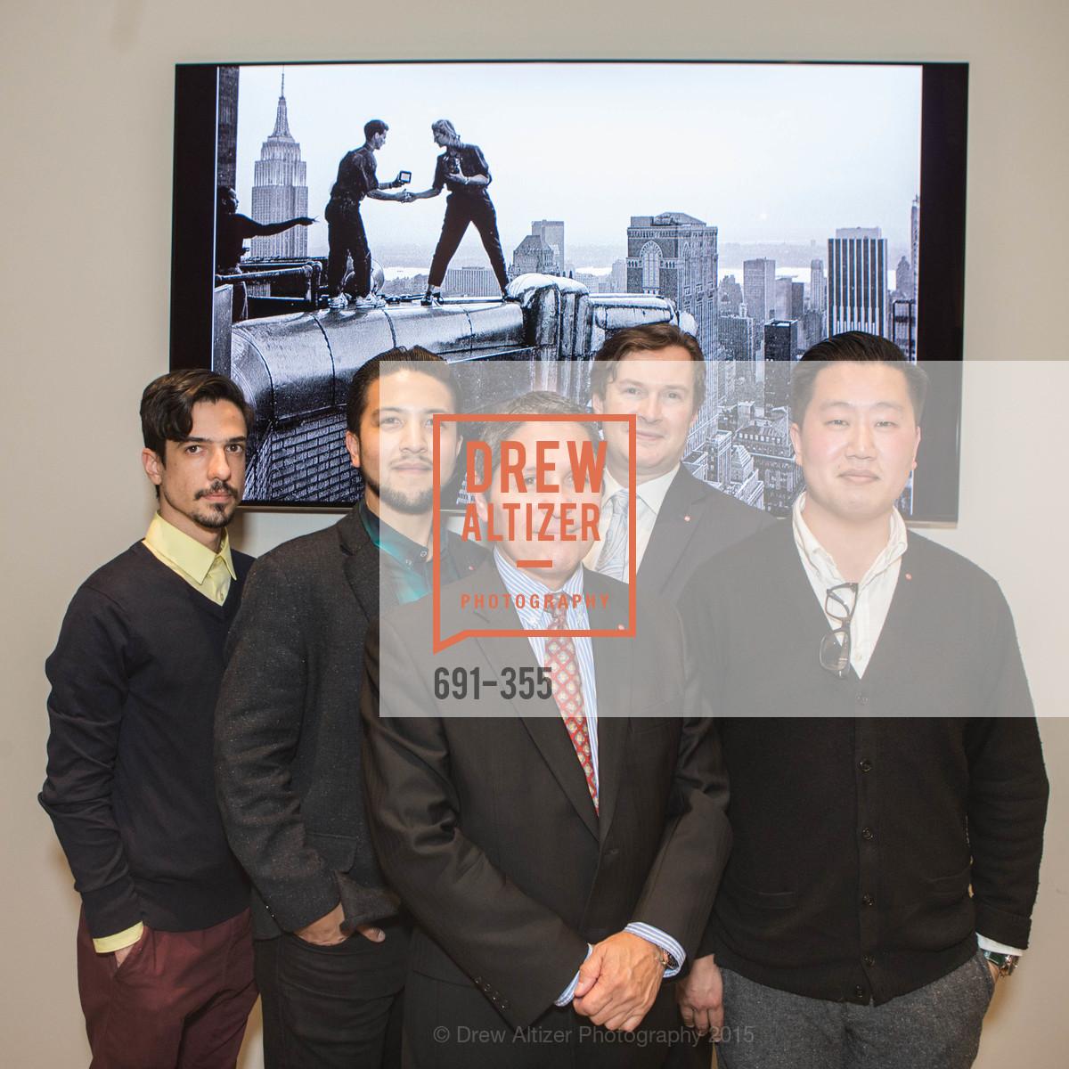 Andres Vargas, Alex Ramos, Wayne Serrano, Sean Cranor, Myles Kusaba, SFMOMA Contemporary Vision Award Launch Party, Leica. 463 Bush St, October 8th, 2015