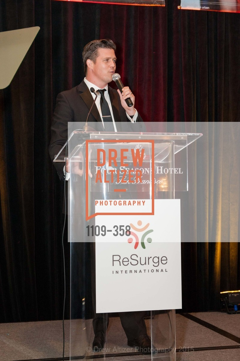 Zack Krone, ReSurge International Gala, Four Seasons San Francisco, October 10th, 2015