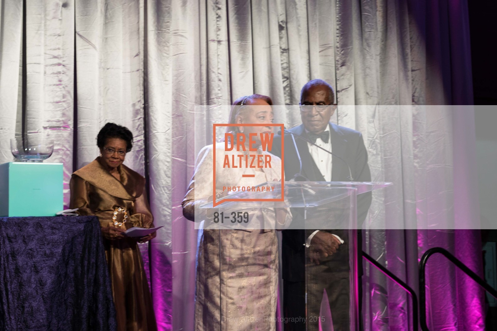 Belva Davis, Jewelle Taylor Gibbs, James Lowell Gibbs, 2015 MoAD Gala: Finding the I in Diaspora, MoAD Museum & The St. Regis, October 10th, 2015,Drew Altizer, Drew Altizer Photography, full-service agency, private events, San Francisco photographer, photographer california