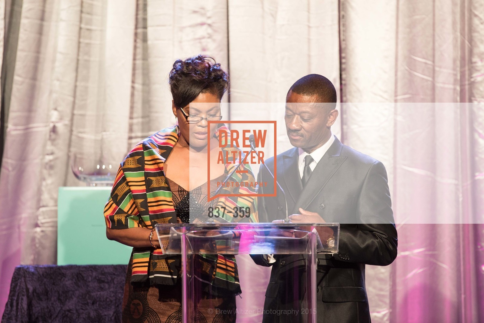 Gladys Moore, Kofi Bonner, 2015 MoAD Gala: Finding the I in Diaspora, MoAD Museum & The St. Regis, October 10th, 2015,Drew Altizer, Drew Altizer Photography, full-service agency, private events, San Francisco photographer, photographer california