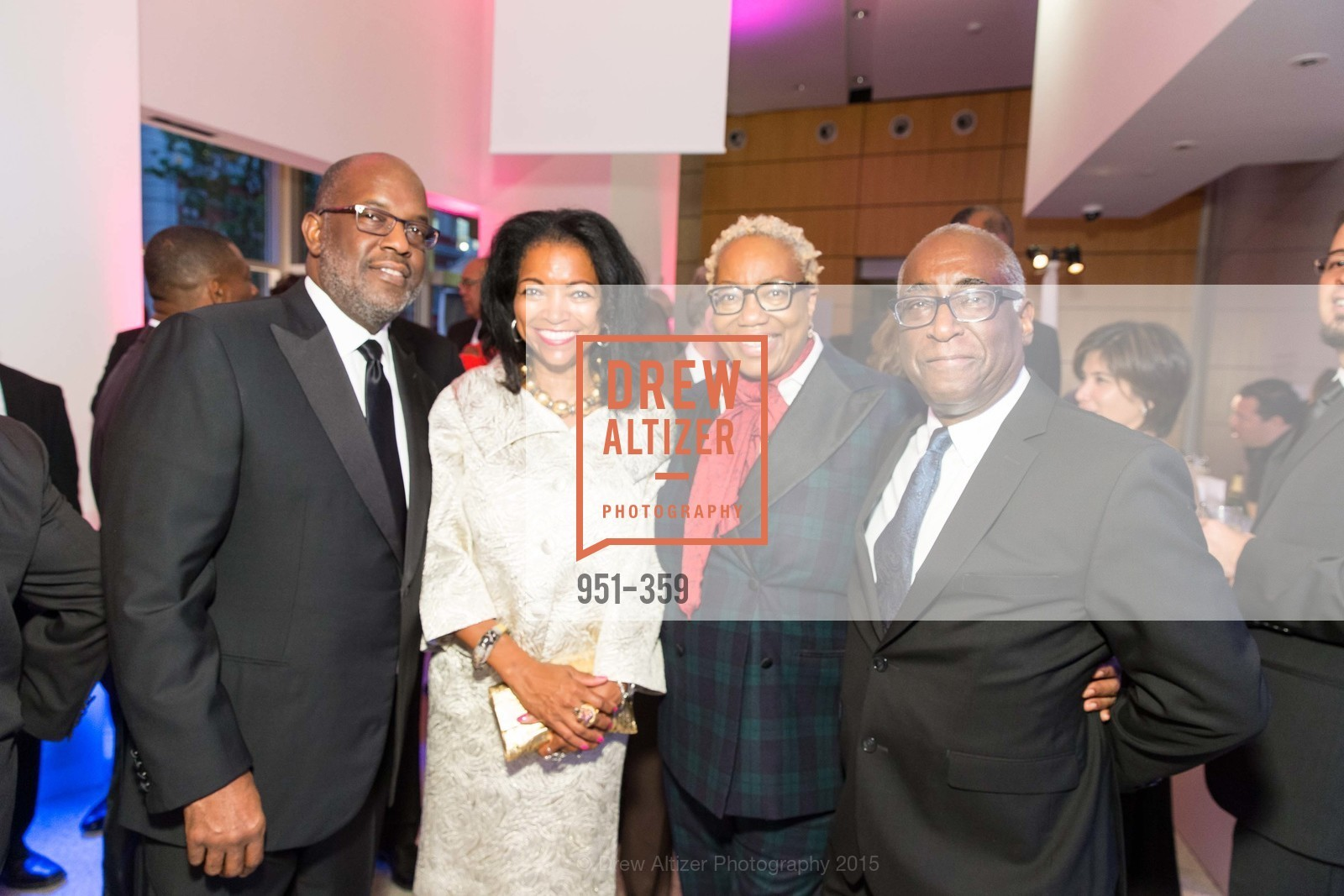 Bernard Tyson, Denise Bradley Tyson, Linda Harrison, Michael Warr, 2015 MoAD Gala: Finding the I in Diaspora, MoAD Museum & The St. Regis, October 10th, 2015,Drew Altizer, Drew Altizer Photography, full-service agency, private events, San Francisco photographer, photographer california