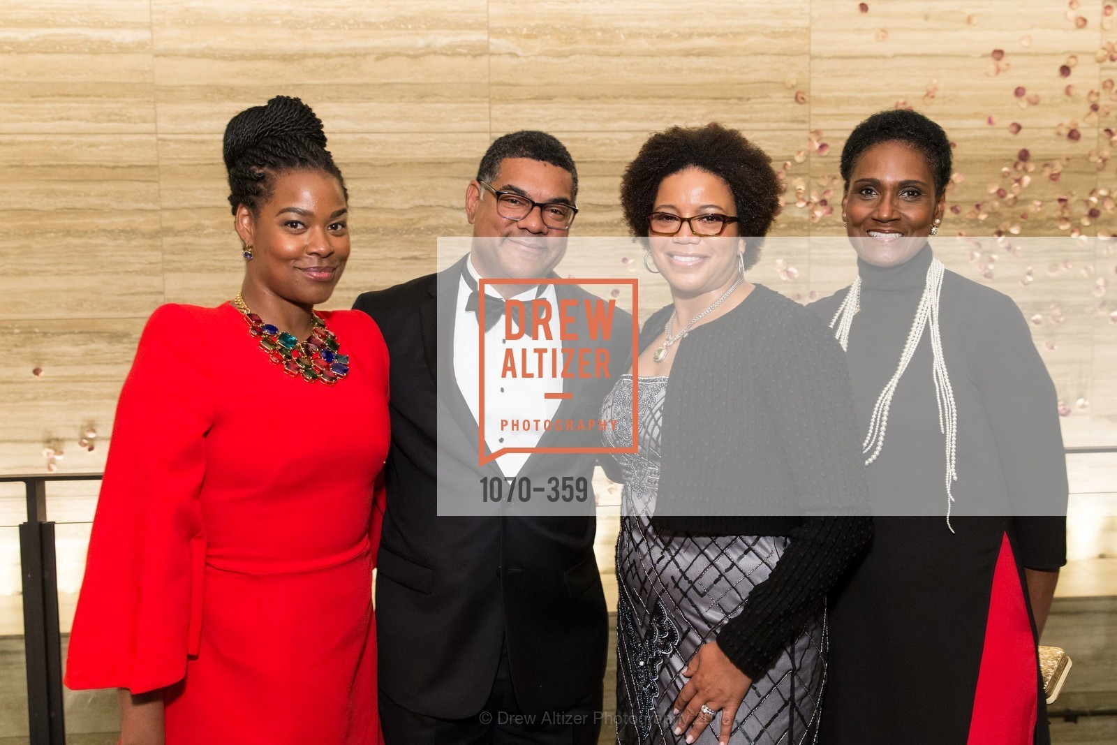 Jessica Bailey, Biff Clark, Yvette Hollingsworth Clark, Deborah Bailey, 2015 MoAD Gala: Finding the I in Diaspora, MoAD Museum & The St. Regis, October 10th, 2015,Drew Altizer, Drew Altizer Photography, full-service agency, private events, San Francisco photographer, photographer california