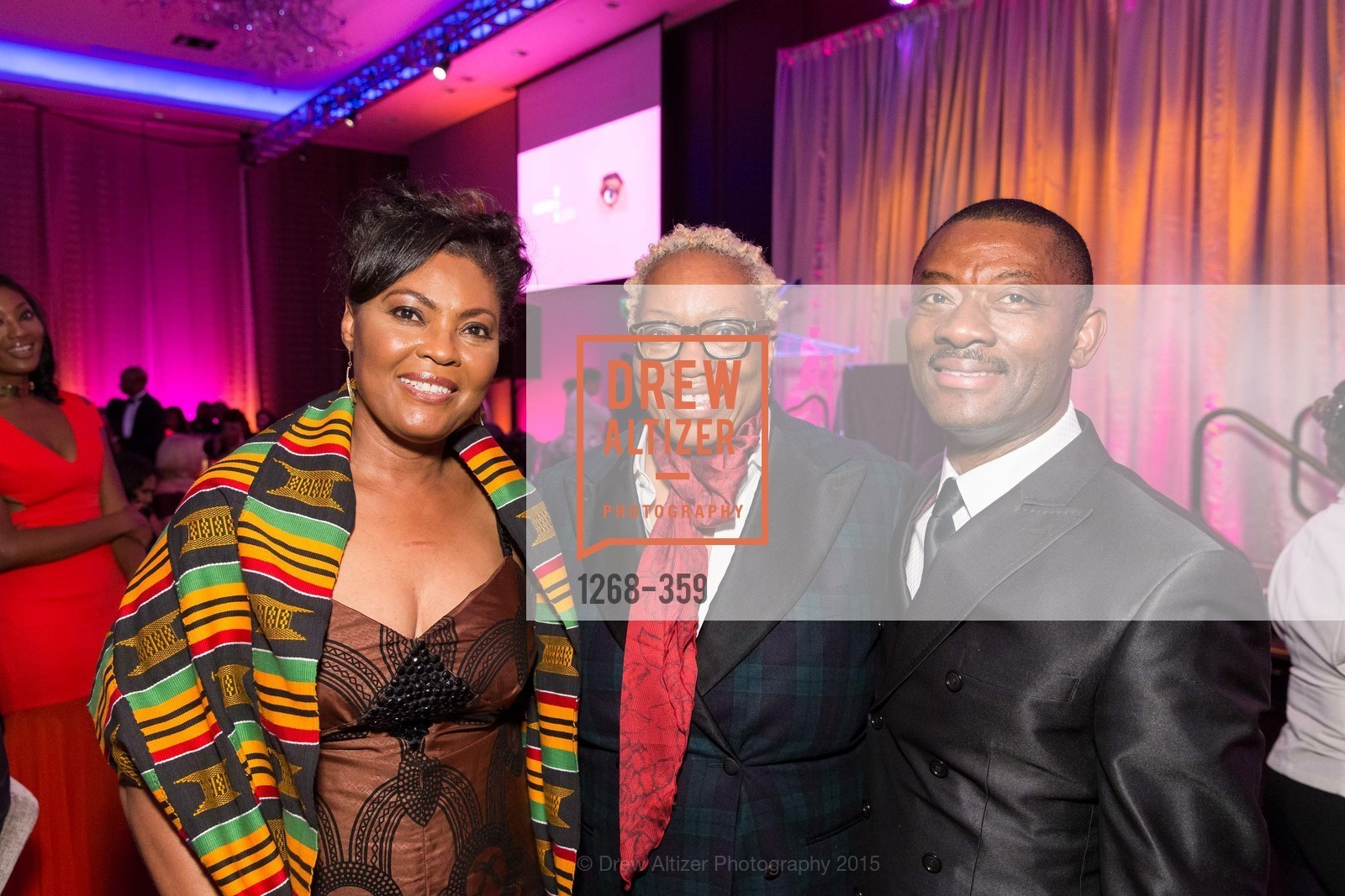 Gladys Moore, Linda Harrison, Kofi Bonner, 2015 MoAD Gala: Finding the I in Diaspora, MoAD Museum & The St. Regis, October 10th, 2015,Drew Altizer, Drew Altizer Photography, full-service agency, private events, San Francisco photographer, photographer california