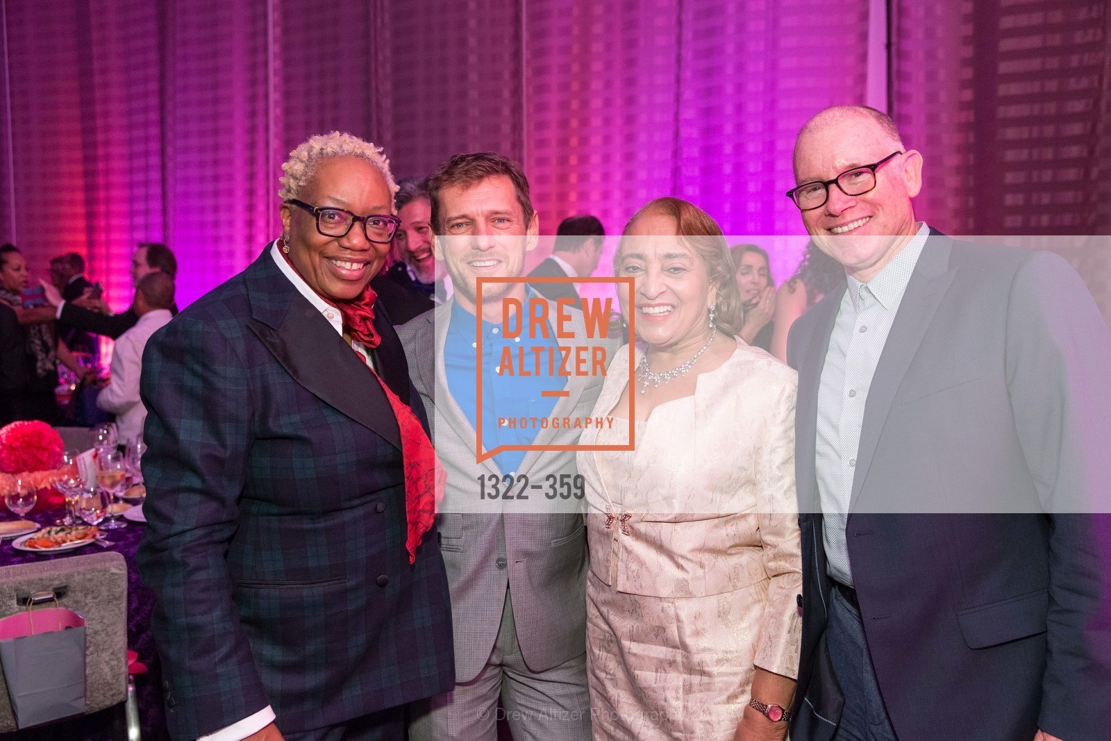 Linda Harrison, Dale Becker, Jewelle Taylor Gibbs, Cole Kinney, 2015 MoAD Gala: Finding the I in Diaspora, MoAD Museum & The St. Regis, October 10th, 2015,Drew Altizer, Drew Altizer Photography, full-service agency, private events, San Francisco photographer, photographer california