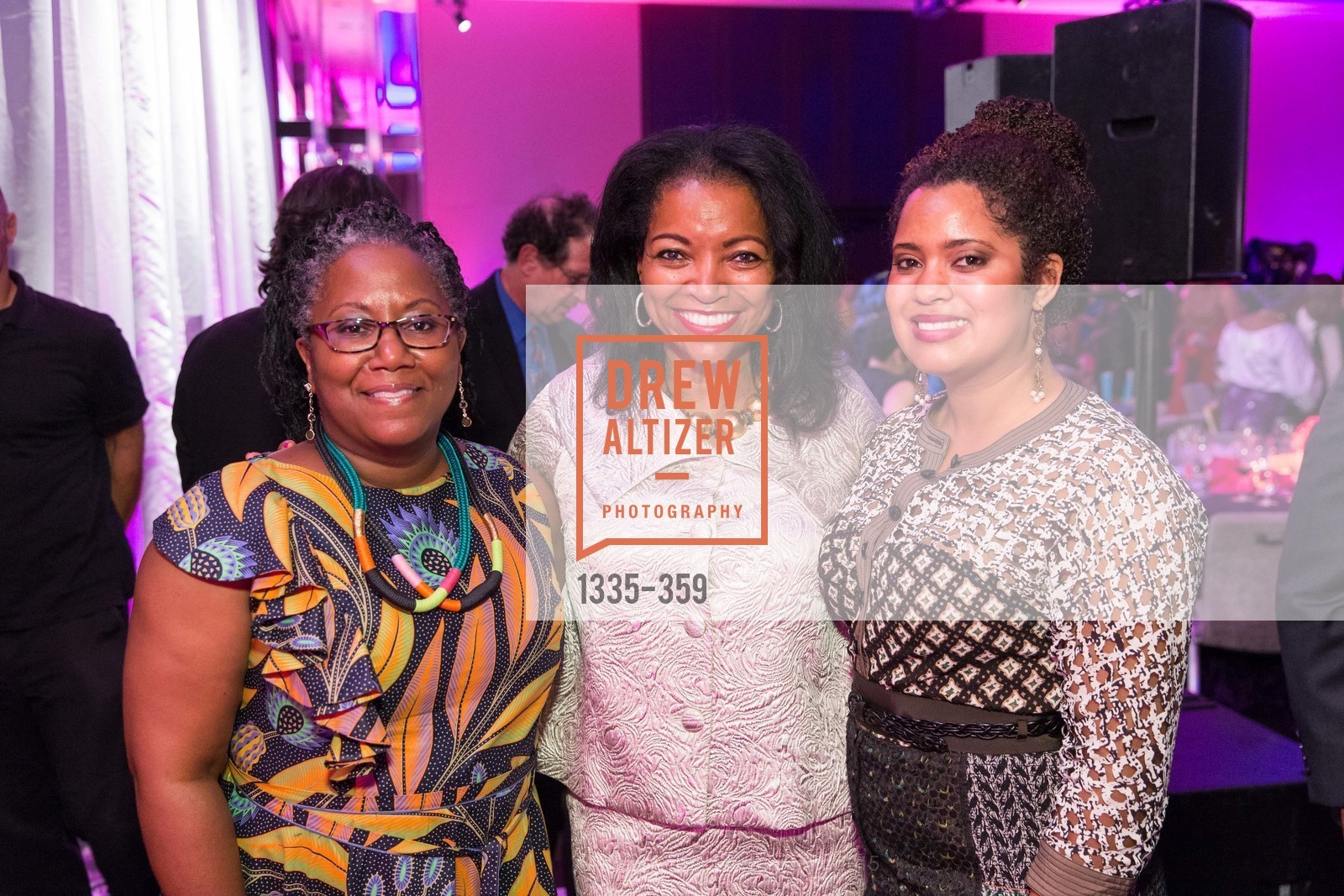 Shiree Dyson, Denise Bradley Tyson, Nia Wilkes, 2015 MoAD Gala: Finding the I in Diaspora, MoAD Museum & The St. Regis, October 10th, 2015,Drew Altizer, Drew Altizer Photography, full-service agency, private events, San Francisco photographer, photographer california