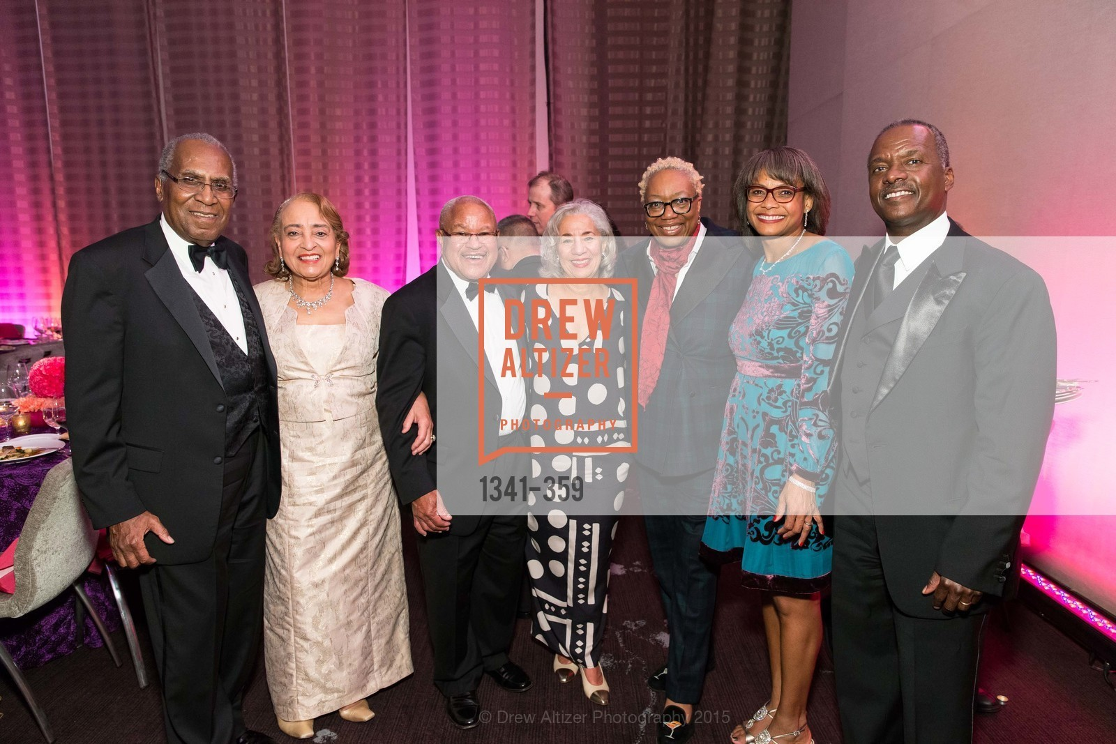 Lowell James Gibbs, Jewelle Taylor Gibbs, Harry Bremond, Peggy Woodford Forbes, Linda Harrison, Karen Jenkins Johnson, Kevin Johnson, 2015 MoAD Gala: Finding the I in Diaspora, MoAD Museum & The St. Regis, October 10th, 2015,Drew Altizer, Drew Altizer Photography, full-service event agency, private events, San Francisco photographer, photographer California
