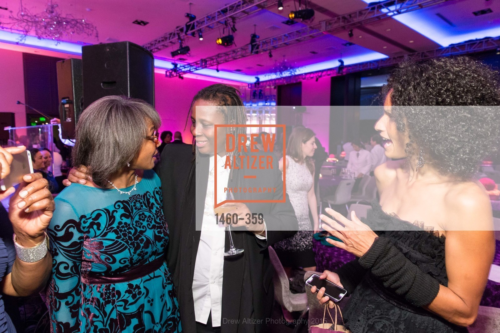 Karen Jenkins Johnson, Mickalene Thomas, Raquel Chevremont, 2015 MoAD Gala: Finding the I in Diaspora, MoAD Museum & The St. Regis, October 10th, 2015,Drew Altizer, Drew Altizer Photography, full-service agency, private events, San Francisco photographer, photographer california