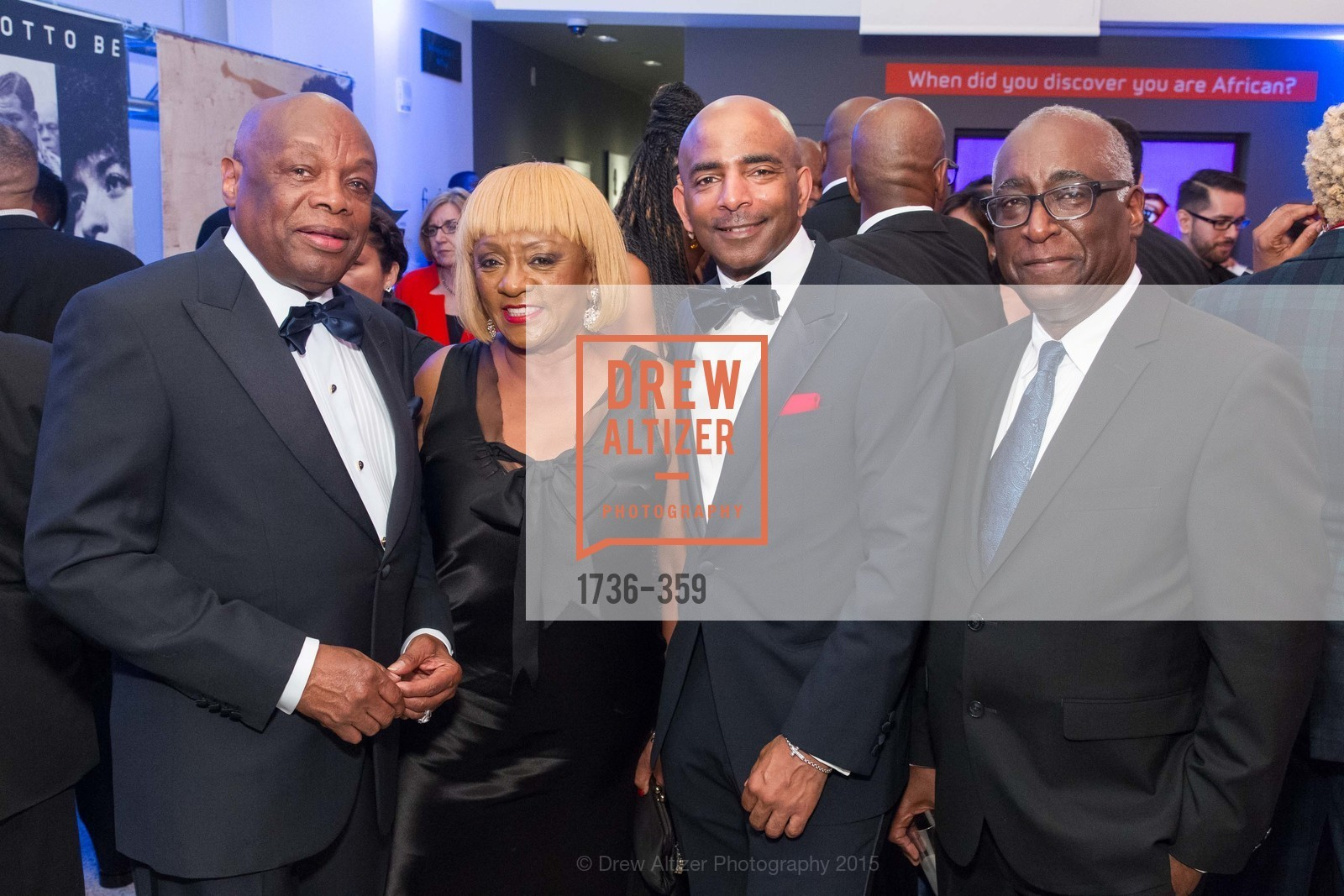 Willie Brown, Brenda Wright, Steve Bowdry, Michael Warr, 2015 MoAD Gala: Finding the I in Diaspora, MoAD Museum & The St. Regis, October 10th, 2015,Drew Altizer, Drew Altizer Photography, full-service agency, private events, San Francisco photographer, photographer california