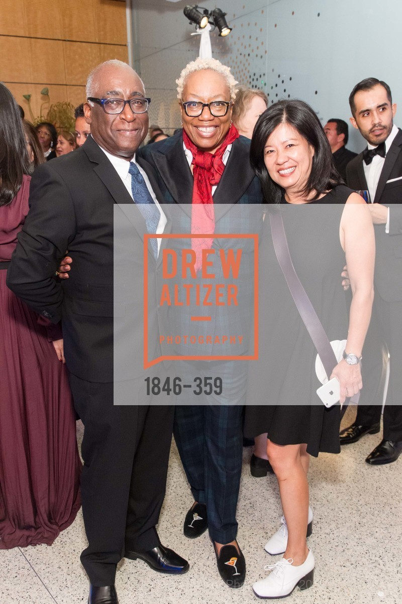 Michael Warr, Linda Harrison, Joy Ou, 2015 MoAD Gala: Finding the I in Diaspora, MoAD Museum & The St. Regis, October 10th, 2015,Drew Altizer, Drew Altizer Photography, full-service agency, private events, San Francisco photographer, photographer california