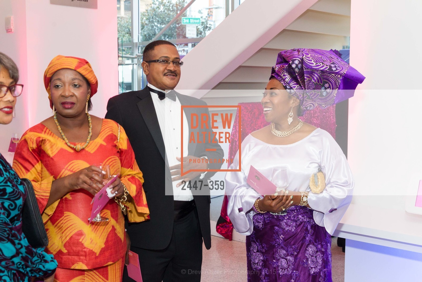 Catherine Budu, Ray Rawanji, Vivian Rawanji, 2015 MoAD Gala: Finding the I in Diaspora, MoAD Museum & The St. Regis, October 10th, 2015,Drew Altizer, Drew Altizer Photography, full-service agency, private events, San Francisco photographer, photographer california
