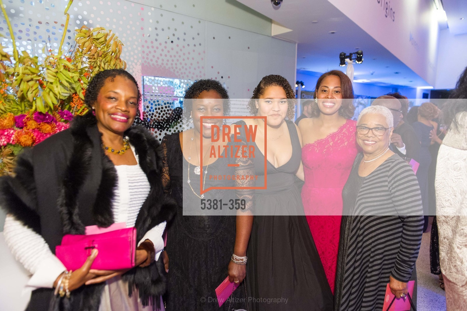 Susan Brown, Robin Brown, Besia Rose Friedel, Isabella Brown, Blanche Brown, 2015 MoAD Gala: Finding the I in Diaspora, MoAD Museum & The St. Regis, October 10th, 2015,Drew Altizer, Drew Altizer Photography, full-service agency, private events, San Francisco photographer, photographer california
