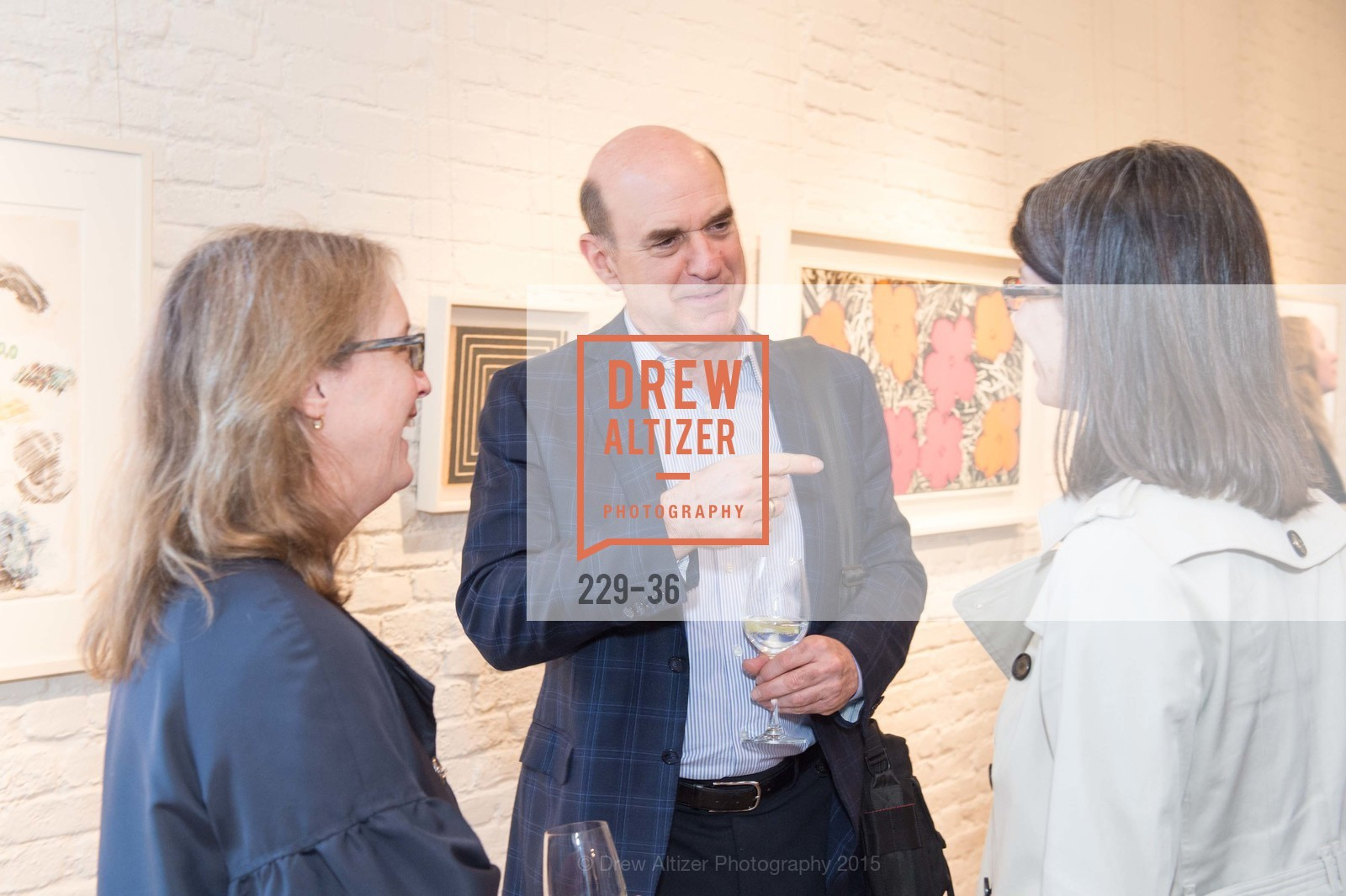 Bob Fisher, Post War and Contemporary preview at Hedge Gallery , Hedge Gallery. 501 Pacific Ave, San Francisco, CA 94133, April 16th, 2015,Drew Altizer, Drew Altizer Photography, full-service agency, private events, San Francisco photographer, photographer california