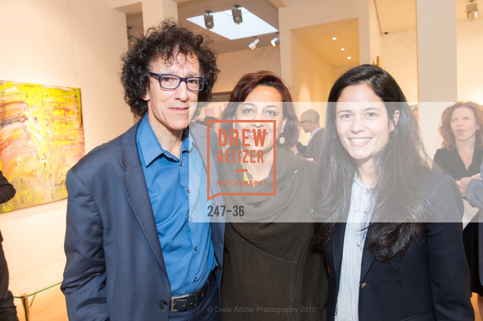 Jonathan Curiel, Nazila Tobaei, Florie Hutchinson, Post War and Contemporary preview at Hedge Gallery , Hedge Gallery. 501 Pacific Ave, San Francisco, CA 94133, April 16th, 2015,Drew Altizer, Drew Altizer Photography, full-service agency, private events, San Francisco photographer, photographer california
