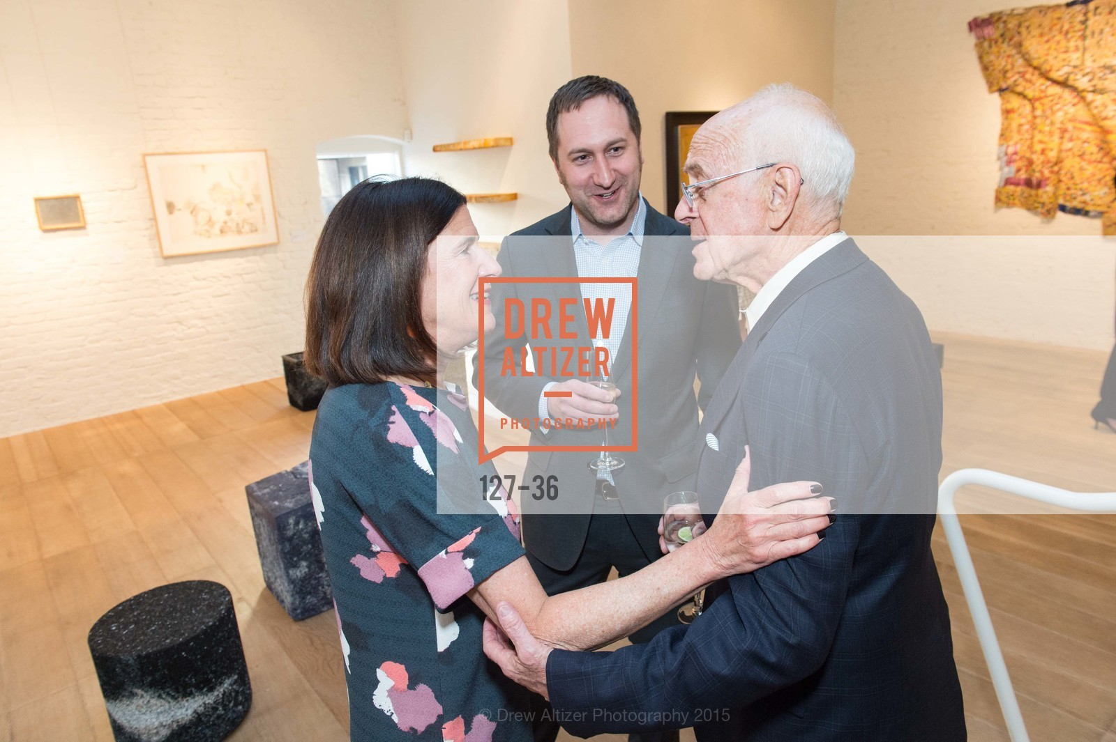 Ellanor Notides, Jonathan Laib, Bob Bransten, Post War and Contemporary preview at Hedge Gallery , Hedge Gallery. 501 Pacific Ave, San Francisco, CA 94133, April 16th, 2015,Drew Altizer, Drew Altizer Photography, full-service agency, private events, San Francisco photographer, photographer california