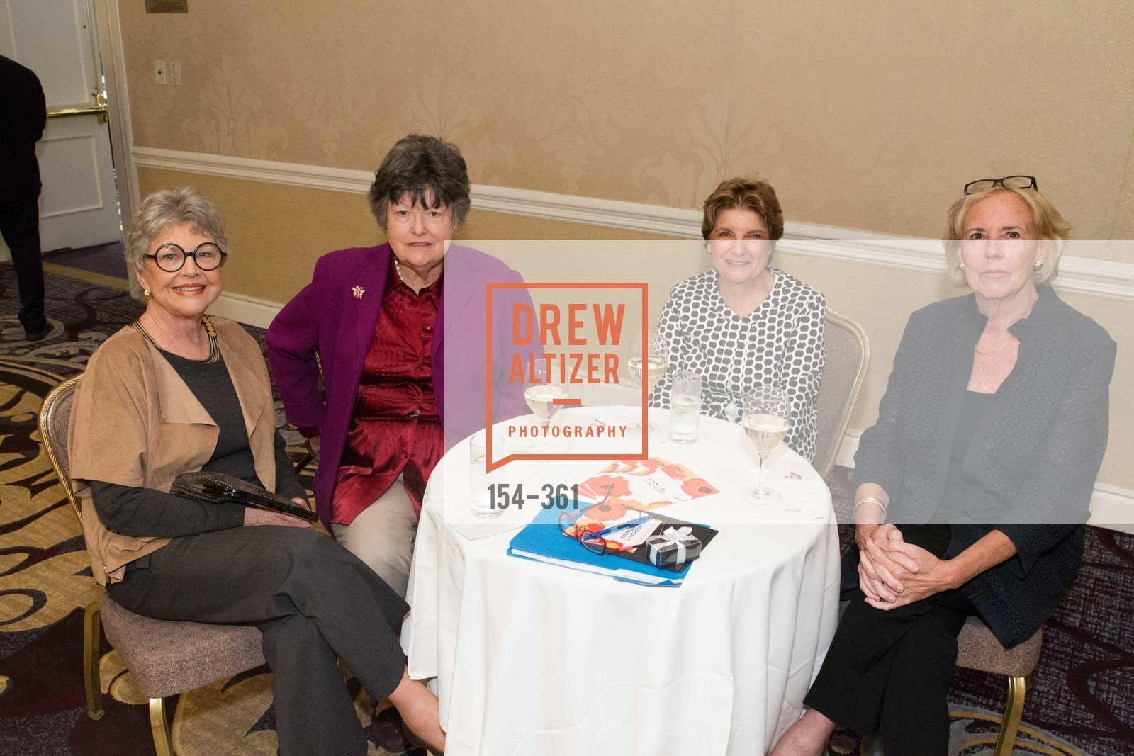 Arlene Ballin, Moira Kimball, Barbara Greico, Helen Hughes, Homeless Prenatal Programs Annual Luncheon, Fairmont Hotel, October 9th, 2015,Drew Altizer, Drew Altizer Photography, full-service agency, private events, San Francisco photographer, photographer california