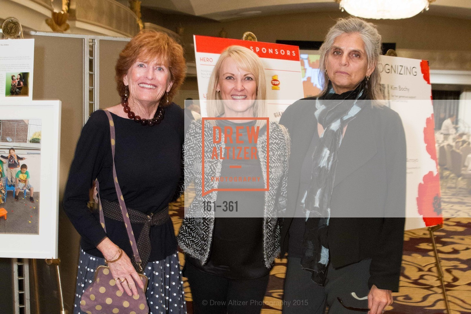 Lee Hagarty, Kim Bochy, Roberta Goodman, Homeless Prenatal Programs Annual Luncheon, Fairmont Hotel, October 9th, 2015,Drew Altizer, Drew Altizer Photography, full-service agency, private events, San Francisco photographer, photographer california
