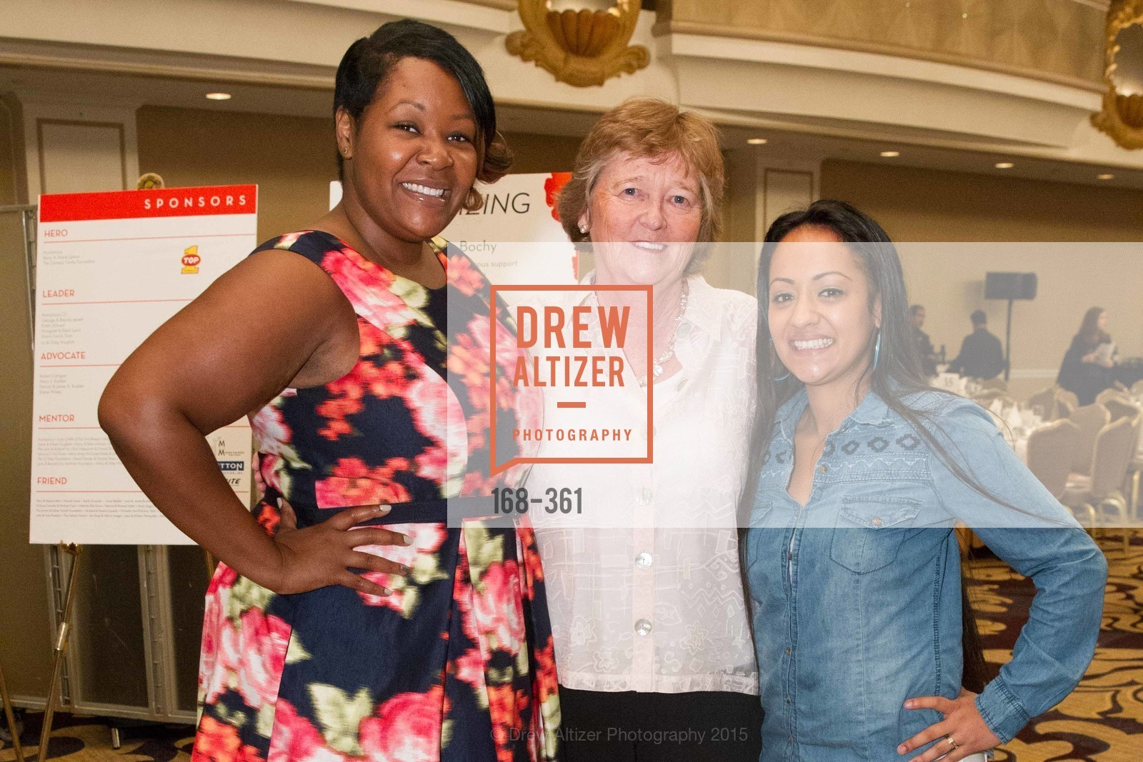 Ophelia Williams, Martha Ryan, Julia Arroyo, Homeless Prenatal Programs Annual Luncheon, Fairmont Hotel, October 9th, 2015,Drew Altizer, Drew Altizer Photography, full-service agency, private events, San Francisco photographer, photographer california