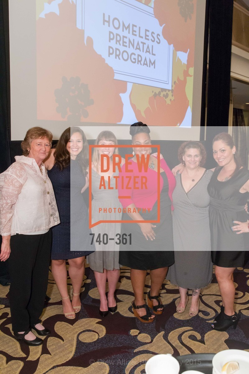 Martha Ryan, Alison Lucas, Scheneida Williams, Carrie Hamilton, Lupe Taylor, Homeless Prenatal Programs Annual Luncheon, Fairmont Hotel, October 9th, 2015,Drew Altizer, Drew Altizer Photography, full-service agency, private events, San Francisco photographer, photographer california
