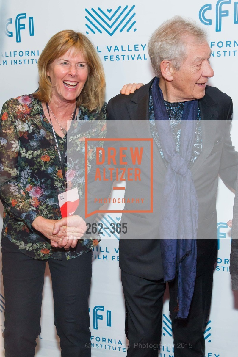 Susan Schwartz, Sir Ian McKellan, Mill Valley Film Festival Tribute to Ian McKellen, Christopher B. Smith Rafael Film Center. 1118 Fourth Street, October 10th, 2015,Drew Altizer, Drew Altizer Photography, full-service agency, private events, San Francisco photographer, photographer california