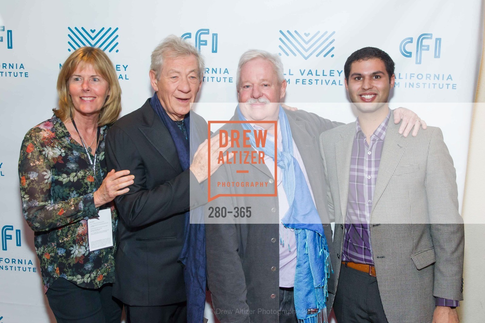 Susan Schwartz, Sir Ian McKellan, Armistead Maupin, Alexander Nourafshan, Mill Valley Film Festival Tribute to Ian McKellen, Christopher B. Smith Rafael Film Center. 1118 Fourth Street, October 10th, 2015,Drew Altizer, Drew Altizer Photography, full-service event agency, private events, San Francisco photographer, photographer California
