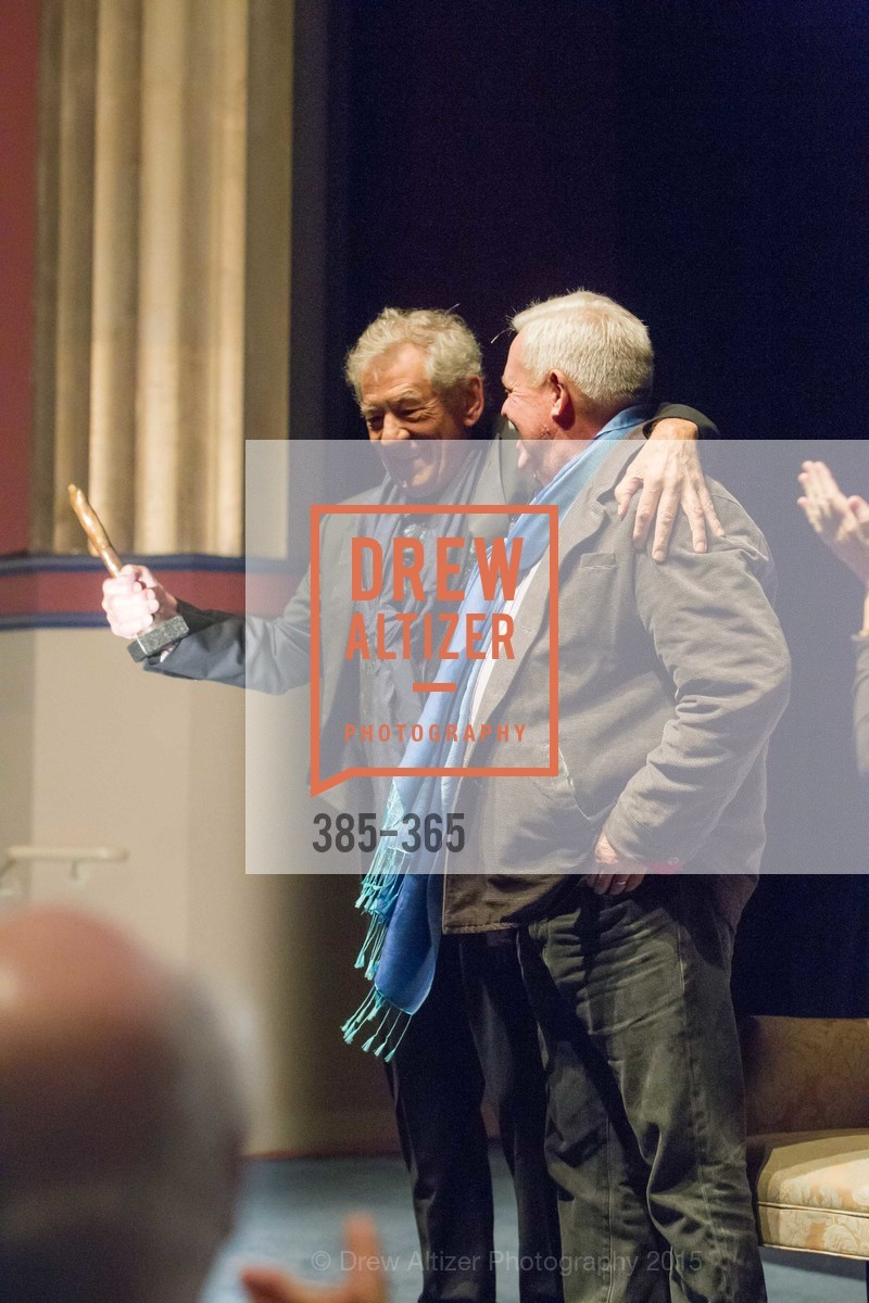 Sir Ian McKellan, Armistead Maupin, Mill Valley Film Festival Tribute to Ian McKellen, Christopher B. Smith Rafael Film Center. 1118 Fourth Street, October 10th, 2015,Drew Altizer, Drew Altizer Photography, full-service agency, private events, San Francisco photographer, photographer california