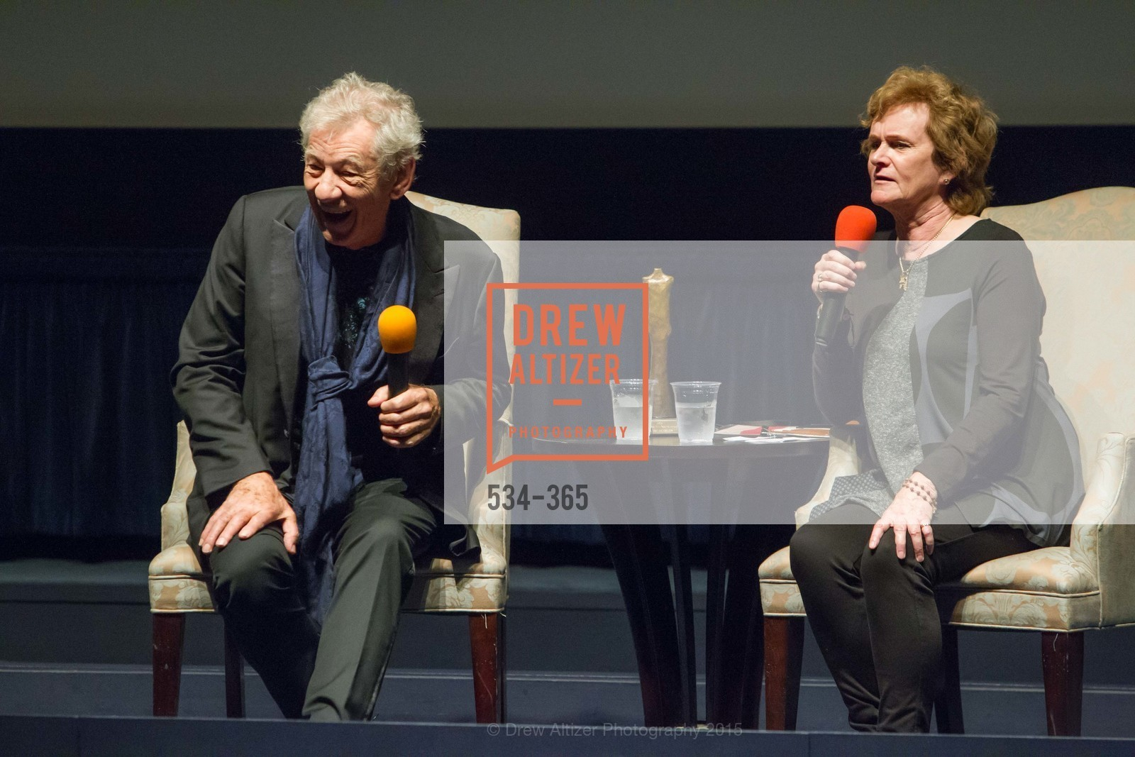 Sir Ian McKellan, Zoe Elton, Mill Valley Film Festival Tribute to Ian McKellen, Christopher B. Smith Rafael Film Center. 1118 Fourth Street, October 10th, 2015,Drew Altizer, Drew Altizer Photography, full-service agency, private events, San Francisco photographer, photographer california