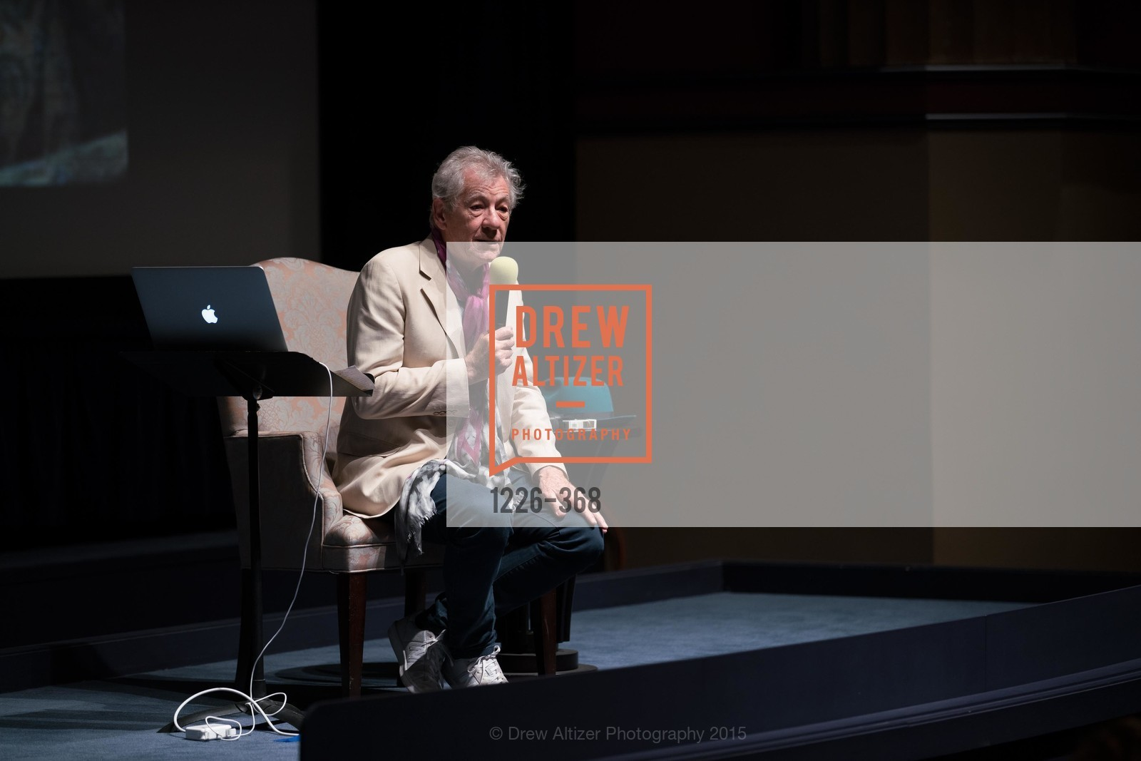 Sir Ian McKellen, IAN McKELLEN REMEMBERS at the  Mill Valley Film Festival, Christopher B. Smith Rafael Film Center. 1118 Fourth Street, October 12th, 2015