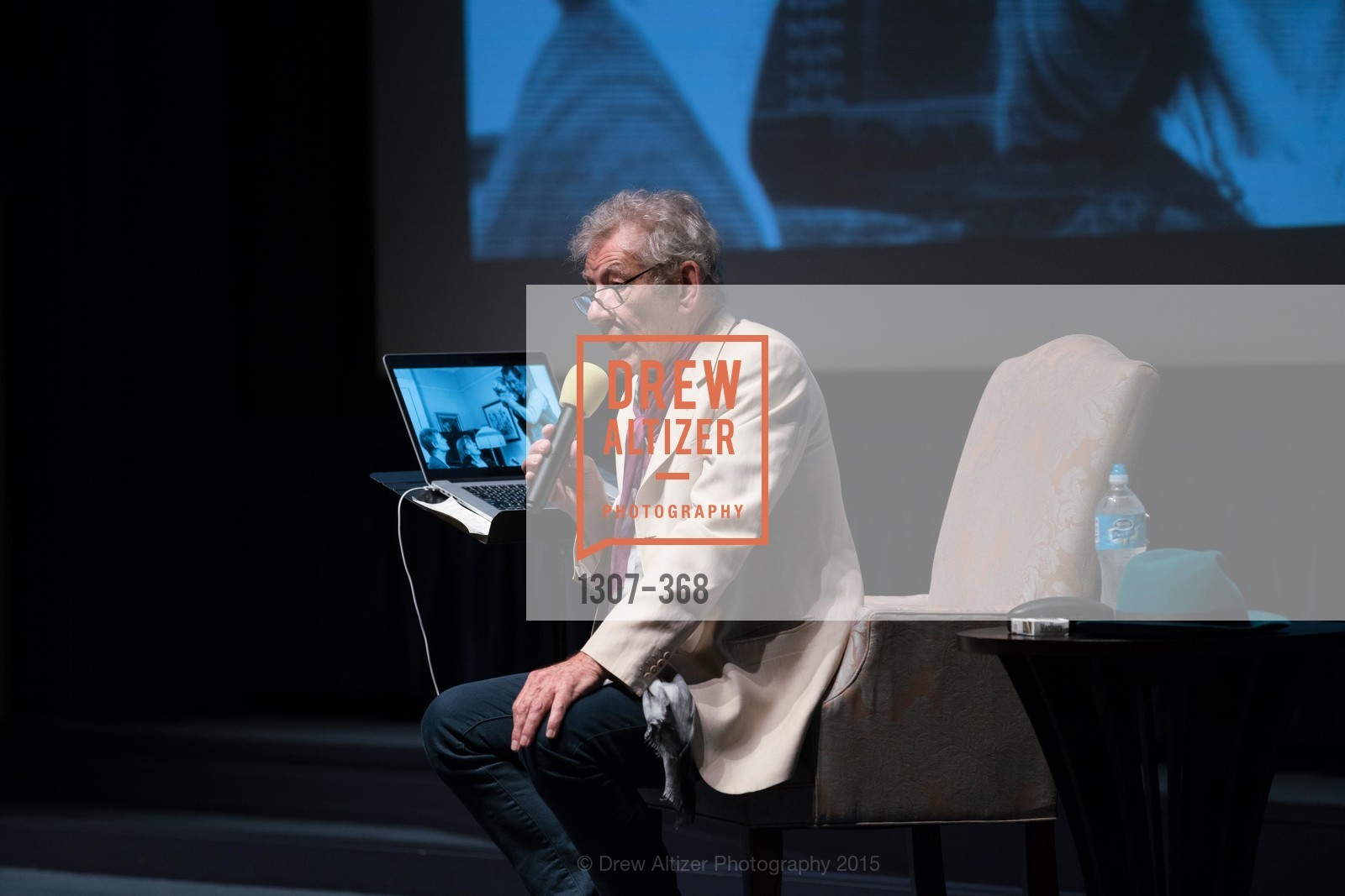 Sir Ian McKellen, IAN McKELLEN REMEMBERS at the  Mill Valley Film Festival, Christopher B. Smith Rafael Film Center. 1118 Fourth Street, October 12th, 2015,Drew Altizer, Drew Altizer Photography, full-service agency, private events, San Francisco photographer, photographer california
