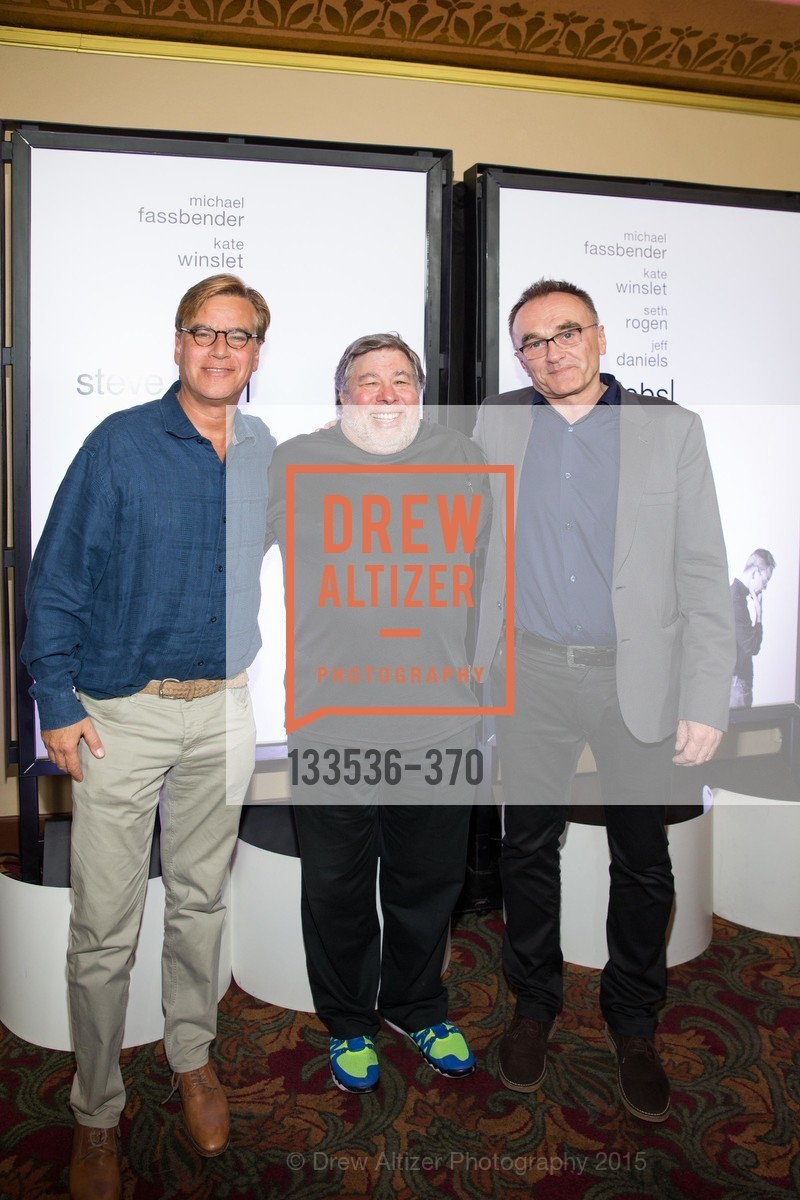 Screenwriter Aaron Sorkin, Steve Wozniak, And Director Danny Boyle, SAN FRANCISCO SPECIAL SCREENING OF STEVE JOBS PRESENTED BY UNIVERSAL PICTURES, OCTOBER 9, 2015 AT THE CASTRO THEATRE, Castro Theater, October 9th, 2015,Drew Altizer, Drew Altizer Photography, full-service agency, private events, San Francisco photographer, photographer california