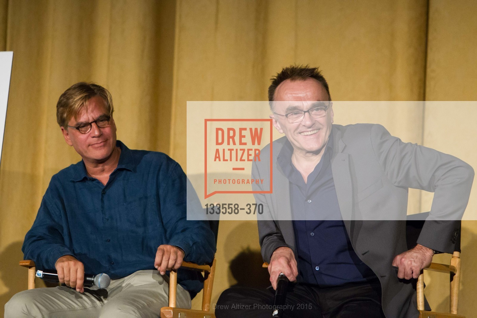 Screenwriter Aaron Sorkin And Director Danny Boyle, SAN FRANCISCO SPECIAL SCREENING OF STEVE JOBS PRESENTED BY UNIVERSAL PICTURES, OCTOBER 9, 2015 AT THE CASTRO THEATRE, Castro Theater, October 9th, 2015,Drew Altizer, Drew Altizer Photography, full-service agency, private events, San Francisco photographer, photographer california