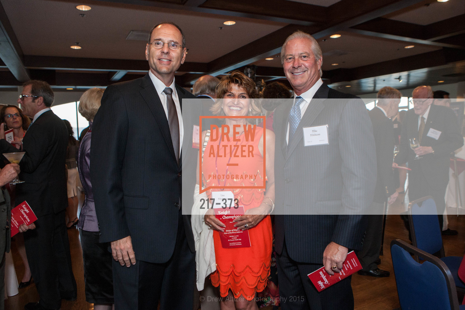 Bill Vaculin, Lisa Mitcheom, Michael Mitcheom, Sovereign Order of Malta Presents: A Knight for Champions, 7th Annual Silver Chalice Awards Dinner, St. Francis Yacht Club. 99 Yacht Rd, October 13th, 2015,Drew Altizer, Drew Altizer Photography, full-service agency, private events, San Francisco photographer, photographer california