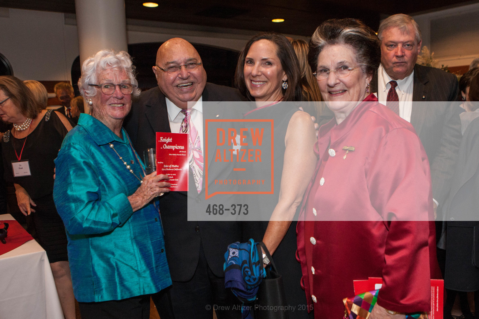 Sheila Carmassi, Tony Sanchez-Corea, Janice Meisel, Lucille Sanchez-Corea, Sovereign Order of Malta Presents: A Knight for Champions, 7th Annual Silver Chalice Awards Dinner, St. Francis Yacht Club. 99 Yacht Rd, October 13th, 2015,Drew Altizer, Drew Altizer Photography, full-service agency, private events, San Francisco photographer, photographer california