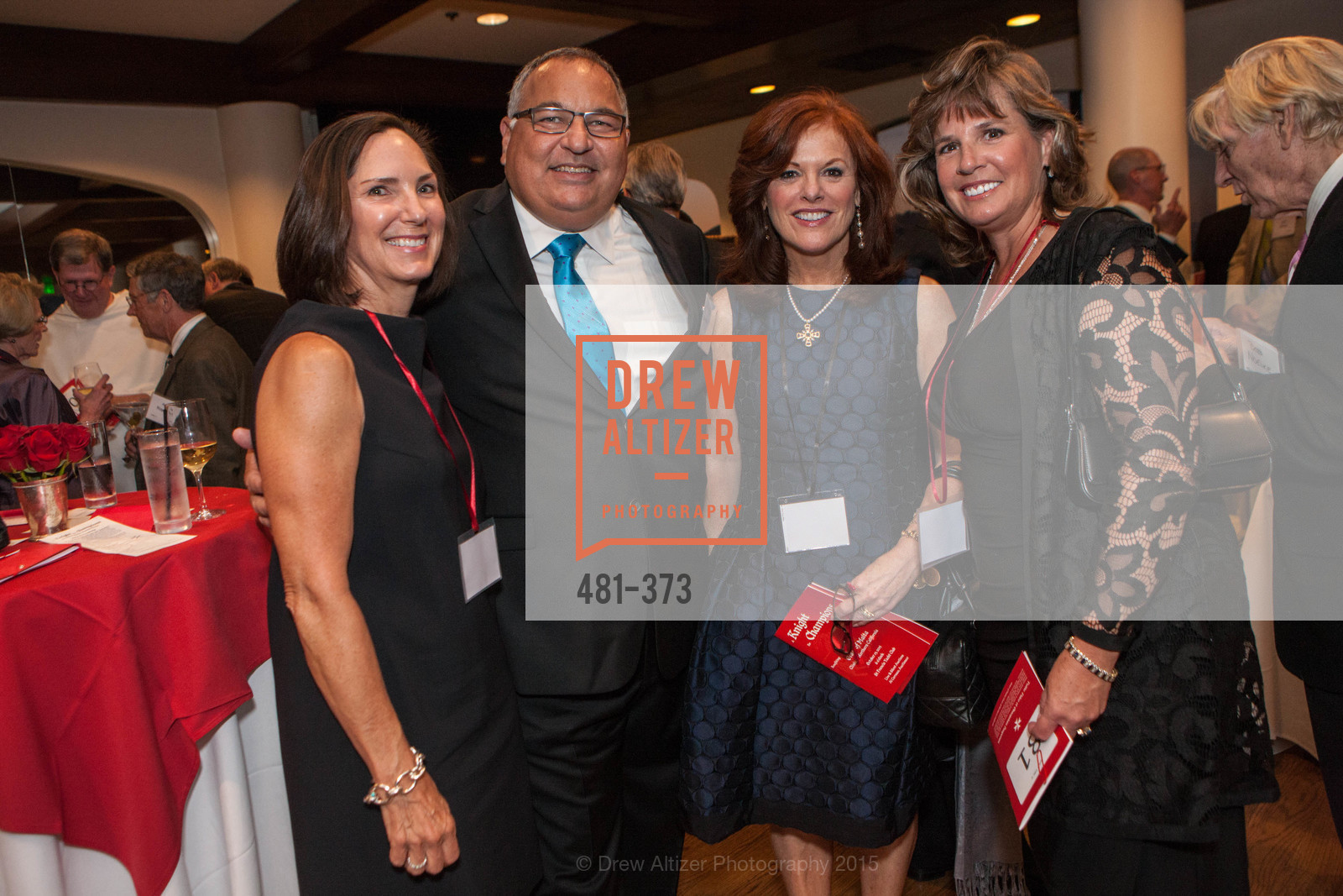 Janice Meisel, Tony Sanchez-Corea, Theresa Spirz, Diane Linehan, Sovereign Order of Malta Presents: A Knight for Champions, 7th Annual Silver Chalice Awards Dinner, St. Francis Yacht Club. 99 Yacht Rd, October 13th, 2015,Drew Altizer, Drew Altizer Photography, full-service agency, private events, San Francisco photographer, photographer california