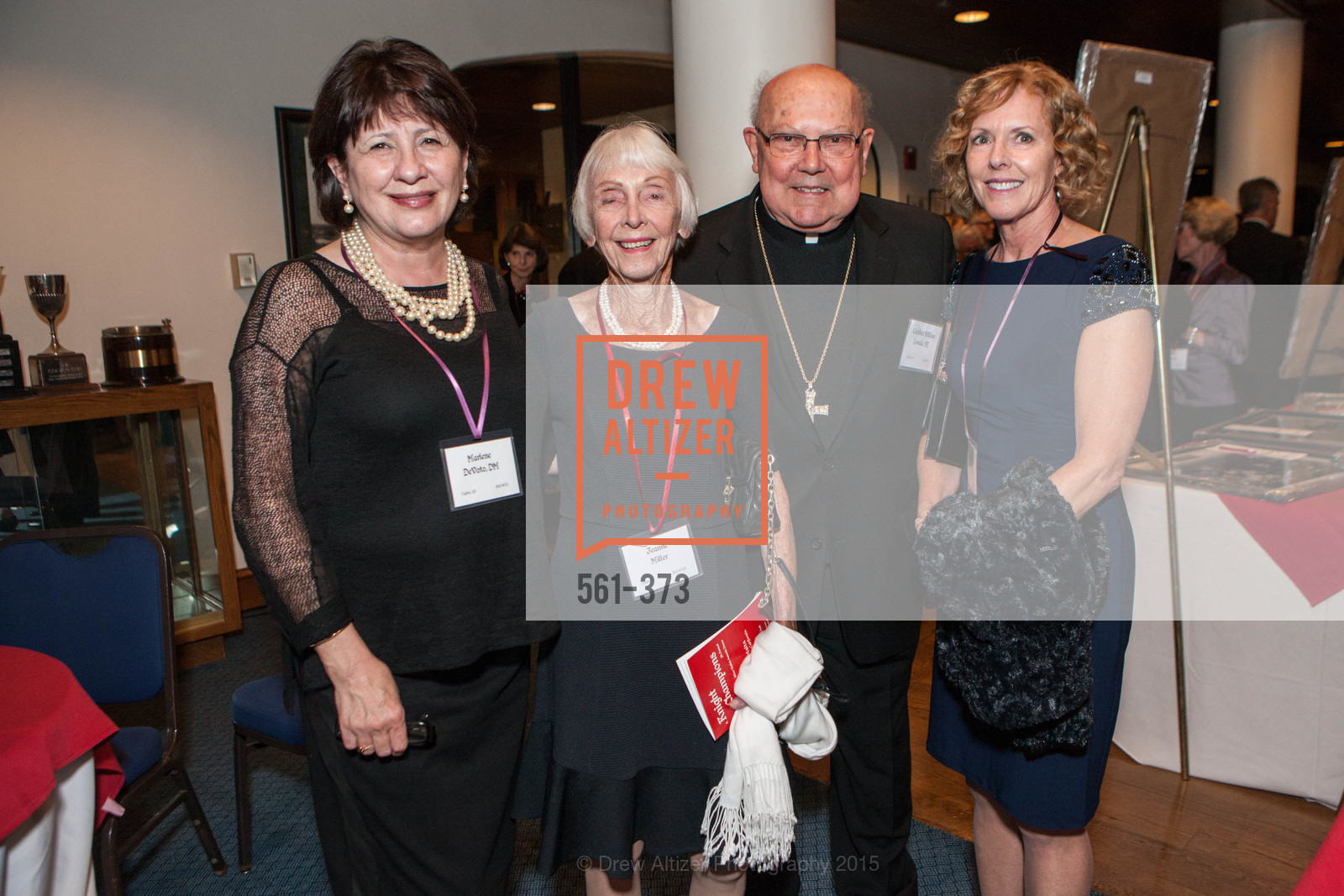 Marlene DeVoto, Jeanne Miller, William Levada, Ellen Field, Sovereign Order of Malta Presents: A Knight for Champions, 7th Annual Silver Chalice Awards Dinner, St. Francis Yacht Club. 99 Yacht Rd, October 13th, 2015,Drew Altizer, Drew Altizer Photography, full-service agency, private events, San Francisco photographer, photographer california
