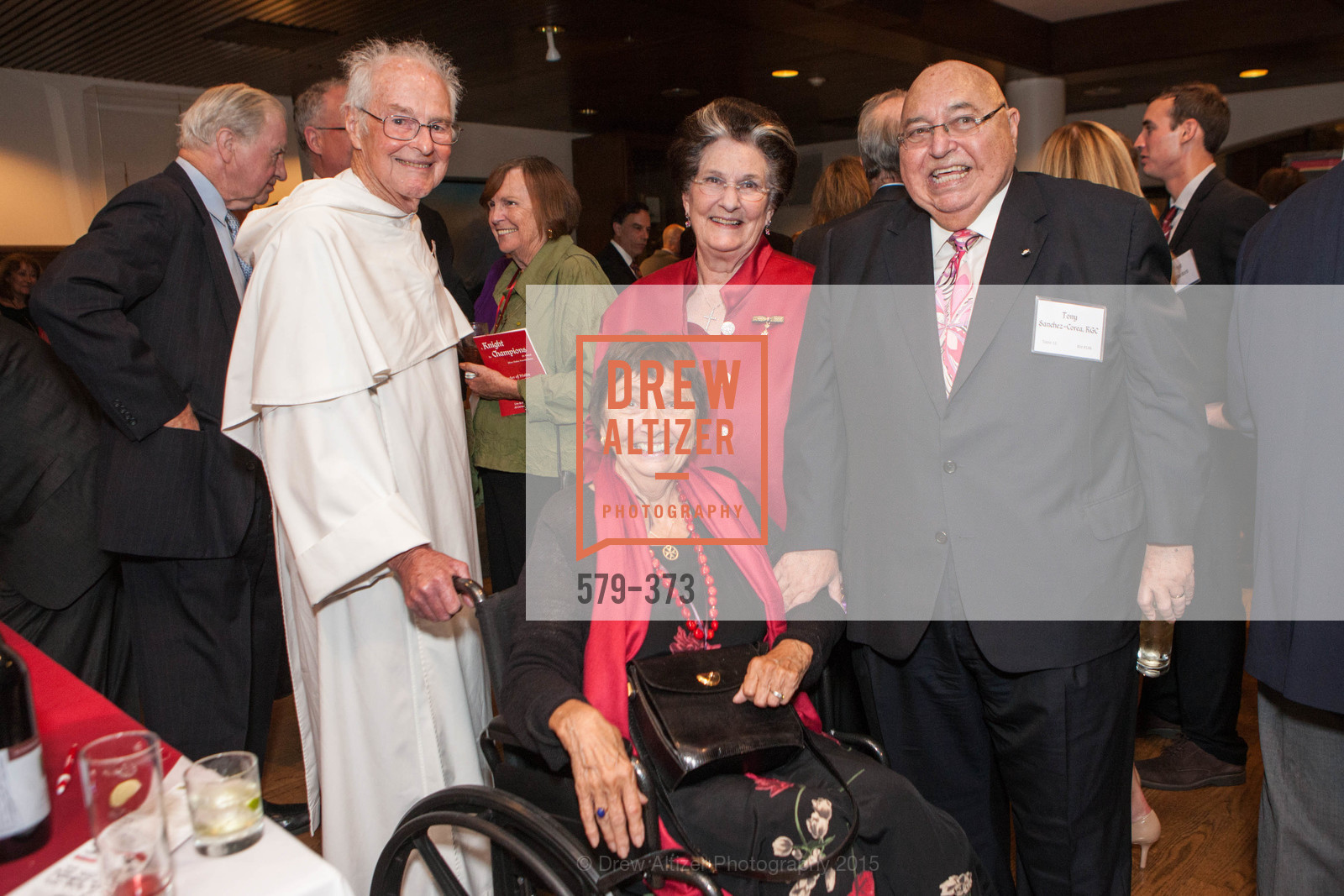 Bruno Gibson, Marilyn Knight, Lucille Sanchez-Corea, Tony Sanchez-Corea, Sovereign Order of Malta Presents: A Knight for Champions, 7th Annual Silver Chalice Awards Dinner, St. Francis Yacht Club. 99 Yacht Rd, October 13th, 2015,Drew Altizer, Drew Altizer Photography, full-service agency, private events, San Francisco photographer, photographer california