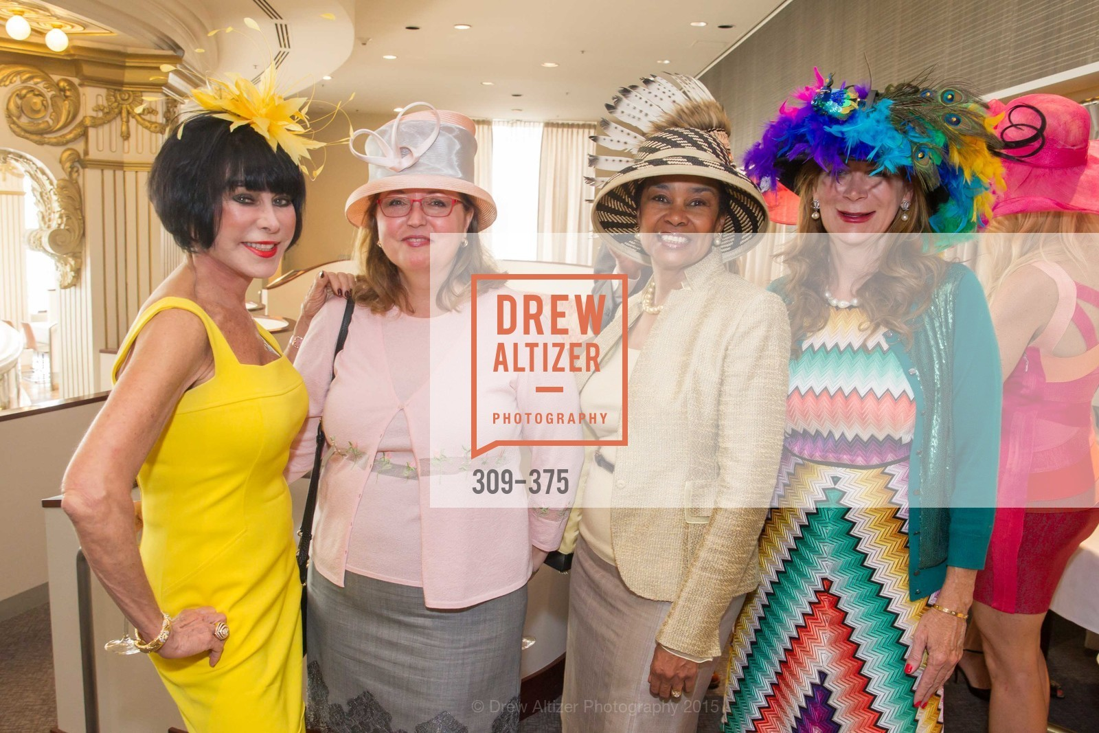 Marilyn Cabak, Linda Styer, Anette Harris, Trish Loucks, SF Zoo Auxiliary Hosts Birds of a Feather Luncheon, Neiman Marcus, Rotunda. Level Four, 150 Stockton St, October 14th, 2015,Drew Altizer, Drew Altizer Photography, full-service agency, private events, San Francisco photographer, photographer california