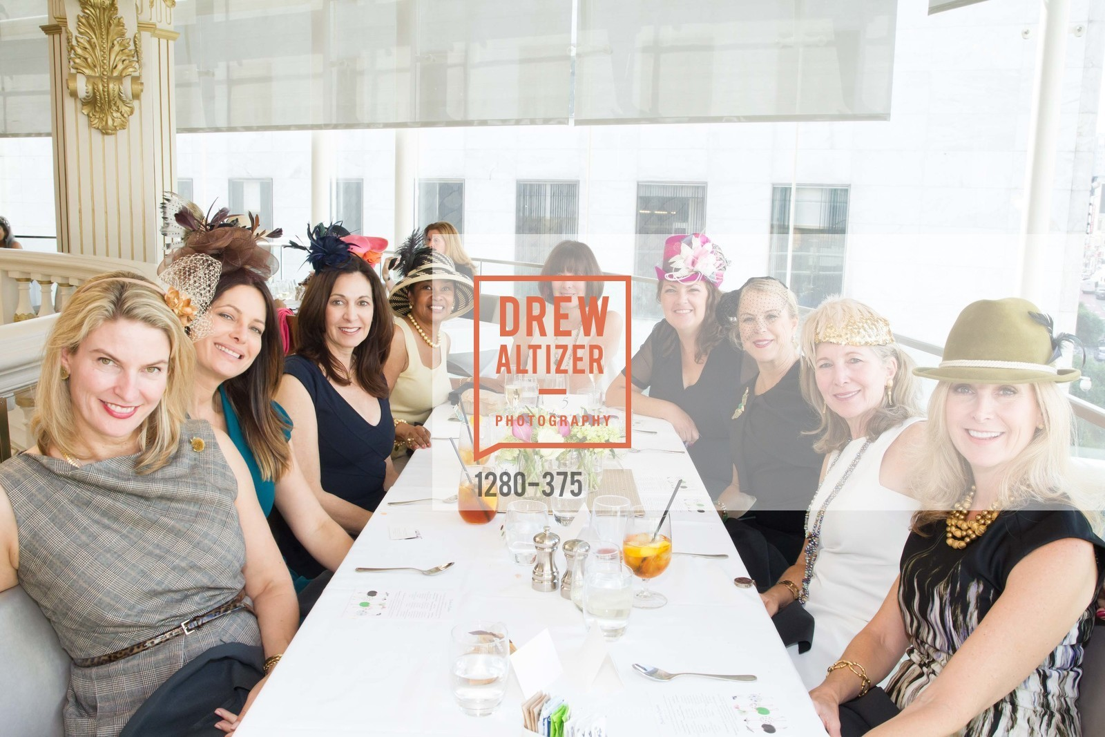 Roxanne Fleming, Anette Harris, Nonie Green, Janie Friend, Melanie Hoffer, SF Zoo Auxiliary Hosts Birds of a Feather Luncheon, Neiman Marcus, Rotunda. Level Four, 150 Stockton St, October 14th, 2015,Drew Altizer, Drew Altizer Photography, full-service agency, private events, San Francisco photographer, photographer california