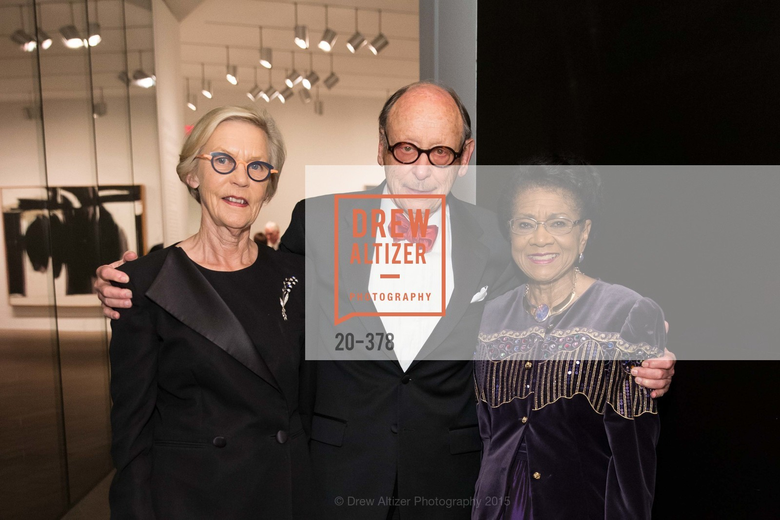 Barbro Osher, Bernard Osher, Belva Davis, Tenth Anniversary Celebration of the New de Young  Museum, de Young Museum. 50 Hagiwara Tea Garden Dr, October 14th, 2015,Drew Altizer, Drew Altizer Photography, full-service agency, private events, San Francisco photographer, photographer california