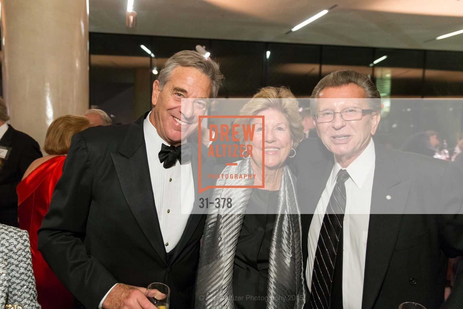 Paul Pelosi, Judy Marcus, George Marcus, Tenth Anniversary Celebration of the New de Young  Museum, de Young Museum. 50 Hagiwara Tea Garden Dr, October 14th, 2015