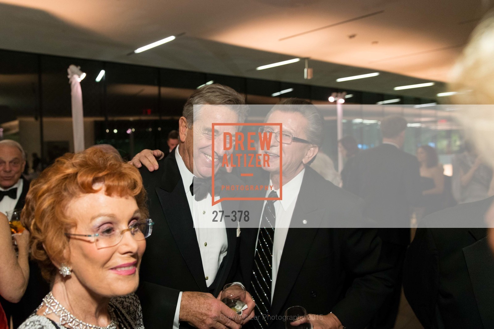 Phoebe Cowles, Paul Pelosi, George Marcus, Tenth Anniversary Celebration of the New de Young  Museum, de Young Museum. 50 Hagiwara Tea Garden Dr, October 14th, 2015,Drew Altizer, Drew Altizer Photography, full-service agency, private events, San Francisco photographer, photographer california