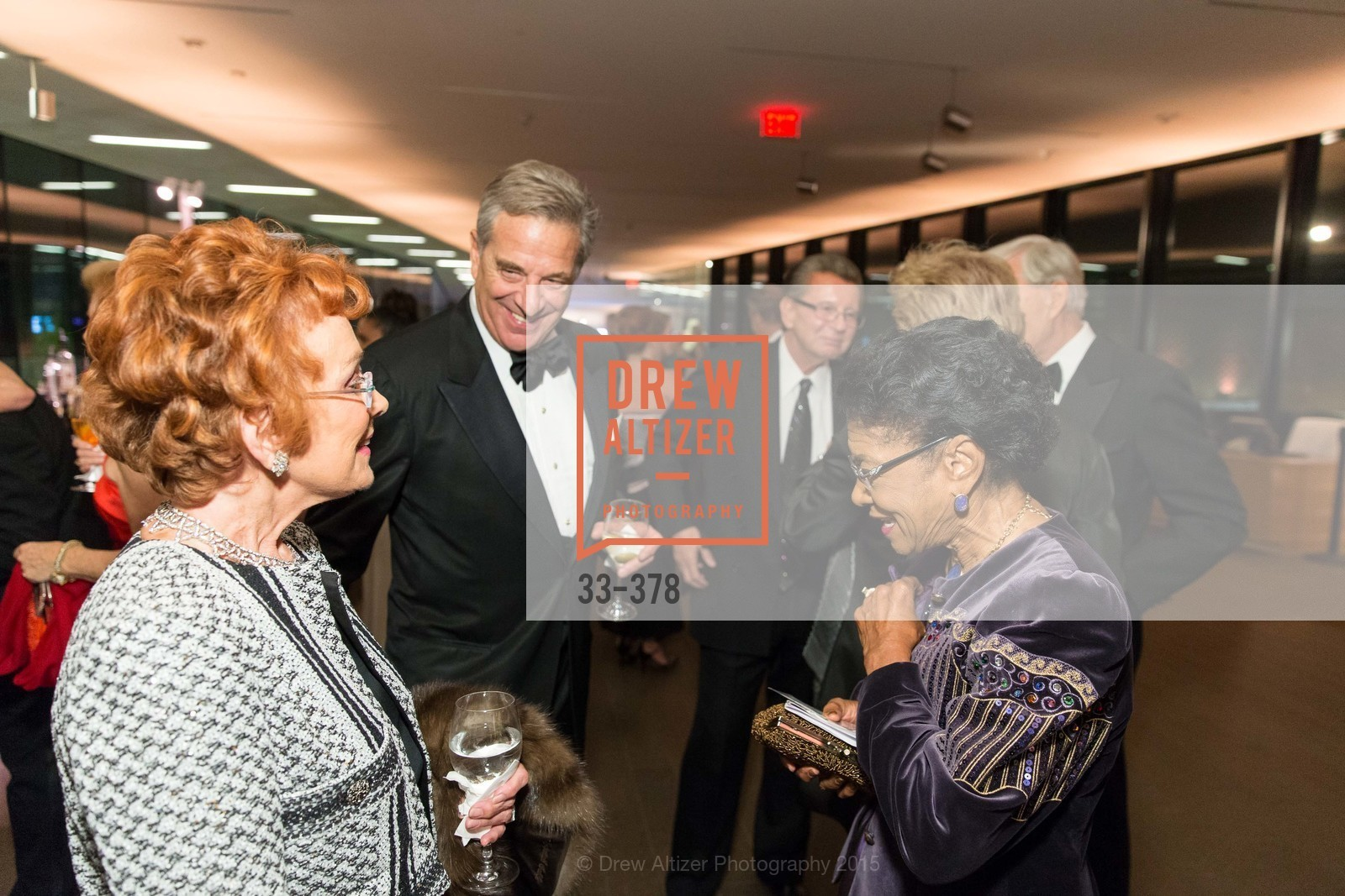 Phoebe Cowles, Paul Pelosi, Belva Davis, Tenth Anniversary Celebration of the New de Young  Museum, de Young Museum. 50 Hagiwara Tea Garden Dr, October 14th, 2015,Drew Altizer, Drew Altizer Photography, full-service agency, private events, San Francisco photographer, photographer california