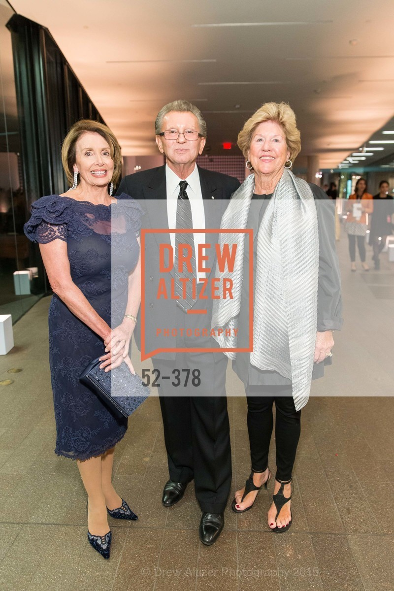 Nancy Pelosi, George Marcus, Judy Marcus, Tenth Anniversary Celebration of the New de Young  Museum, de Young Museum. 50 Hagiwara Tea Garden Dr, October 14th, 2015