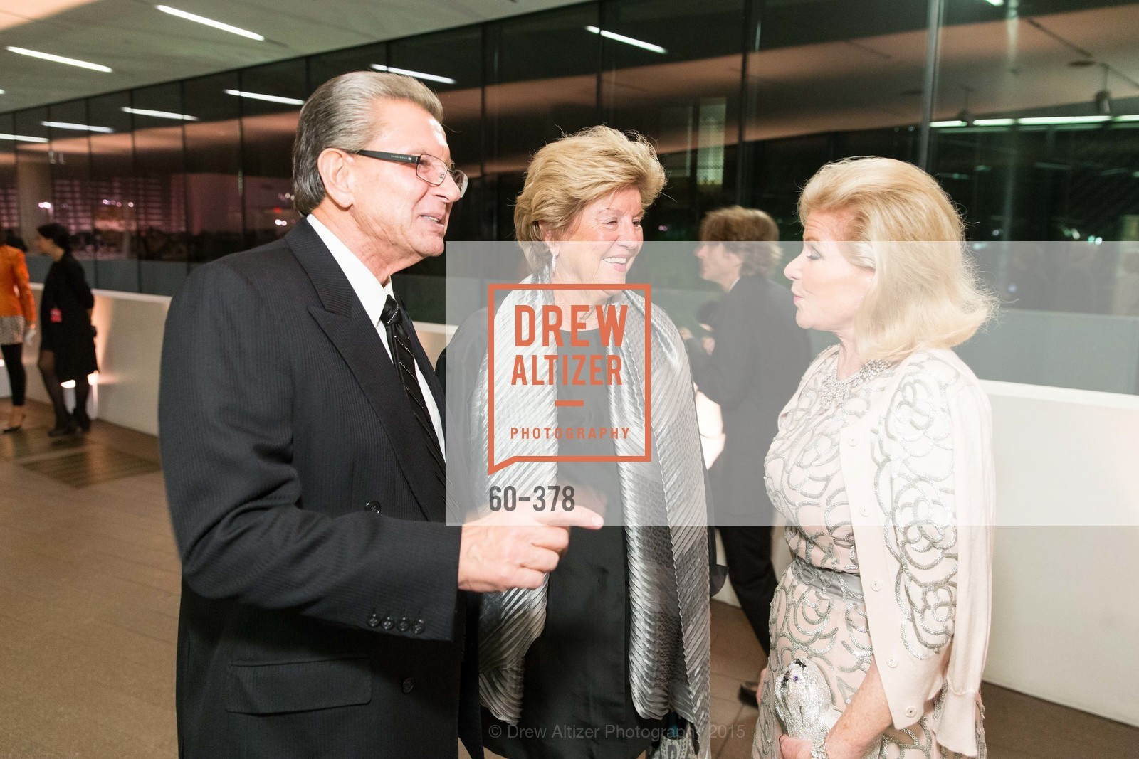George Marcus, Judy Marcus, Dede Wilsey, Tenth Anniversary Celebration of the New de Young  Museum, de Young Museum. 50 Hagiwara Tea Garden Dr, October 14th, 2015,Drew Altizer, Drew Altizer Photography, full-service agency, private events, San Francisco photographer, photographer california