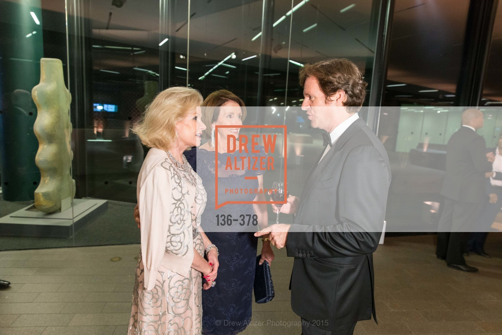 Dede Wilsey, Nancy Pelosi, Trevor Traina, Tenth Anniversary Celebration of the New de Young  Museum, de Young Museum. 50 Hagiwara Tea Garden Dr, October 14th, 2015,Drew Altizer, Drew Altizer Photography, full-service event agency, private events, San Francisco photographer, photographer California